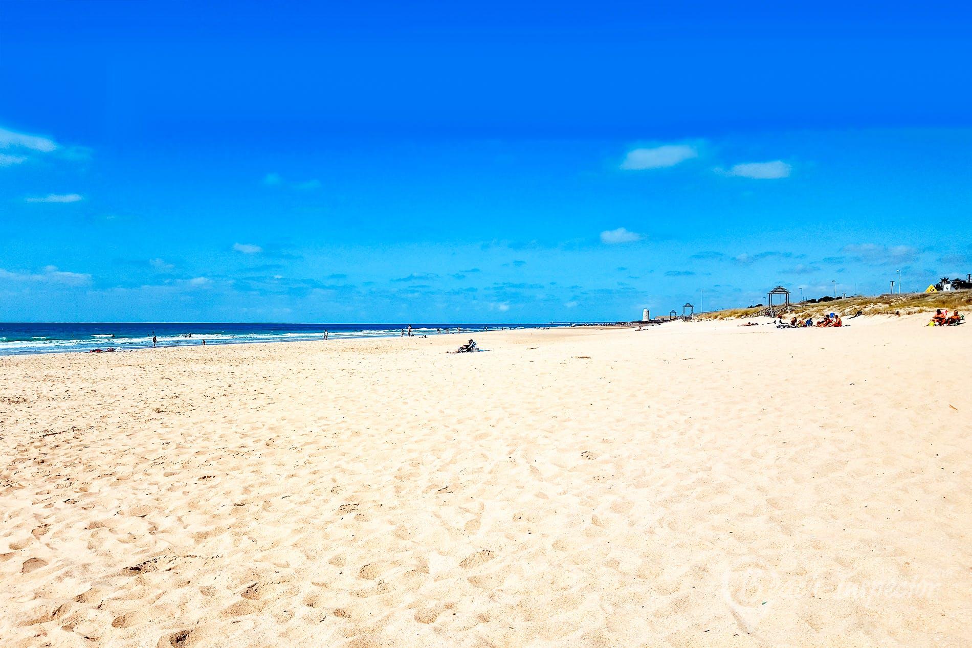 Strand Playa El Palmar, Costa de la Luz, Spanien