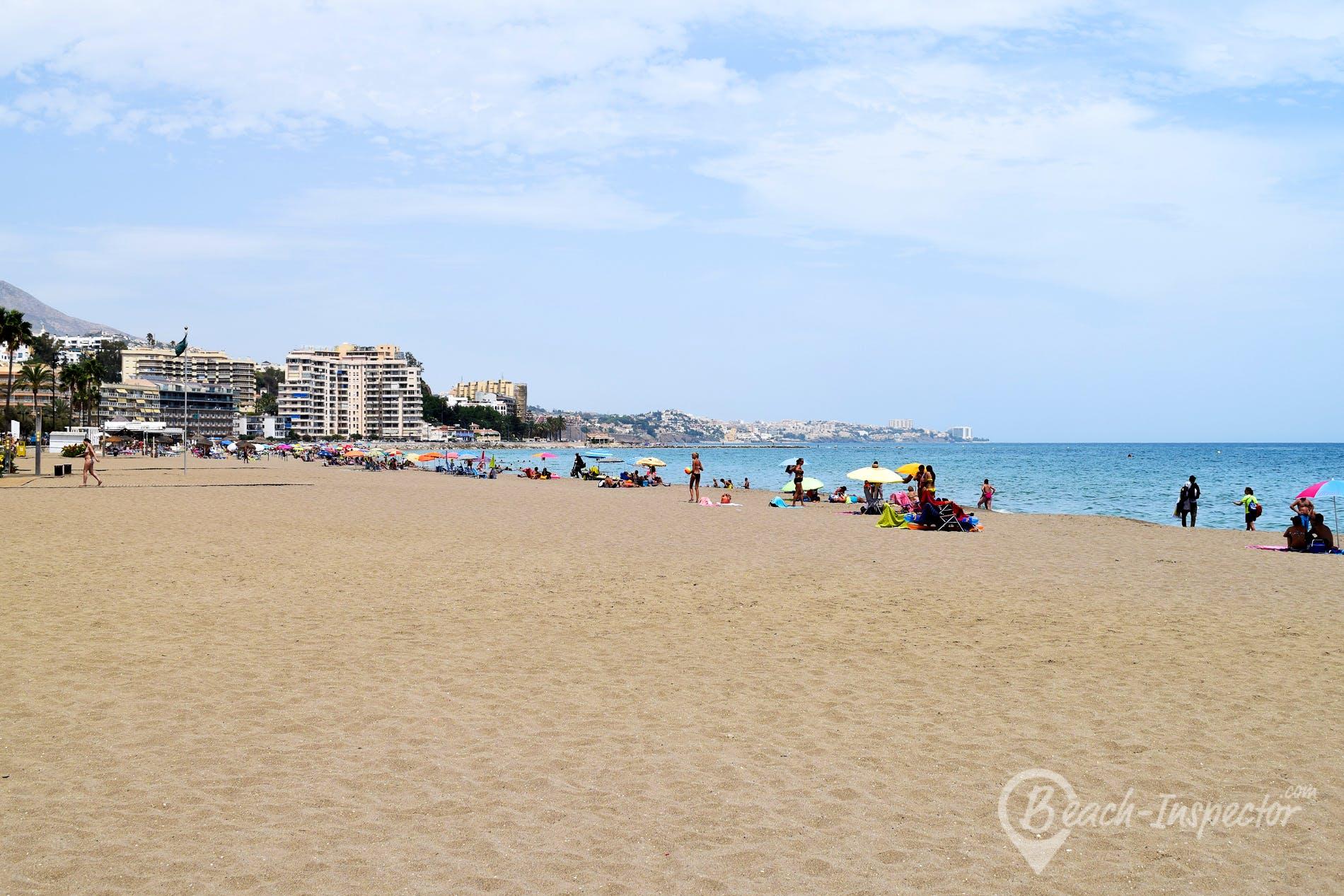 Beach Playa de Torreblanca, Costa del Sol, Spain