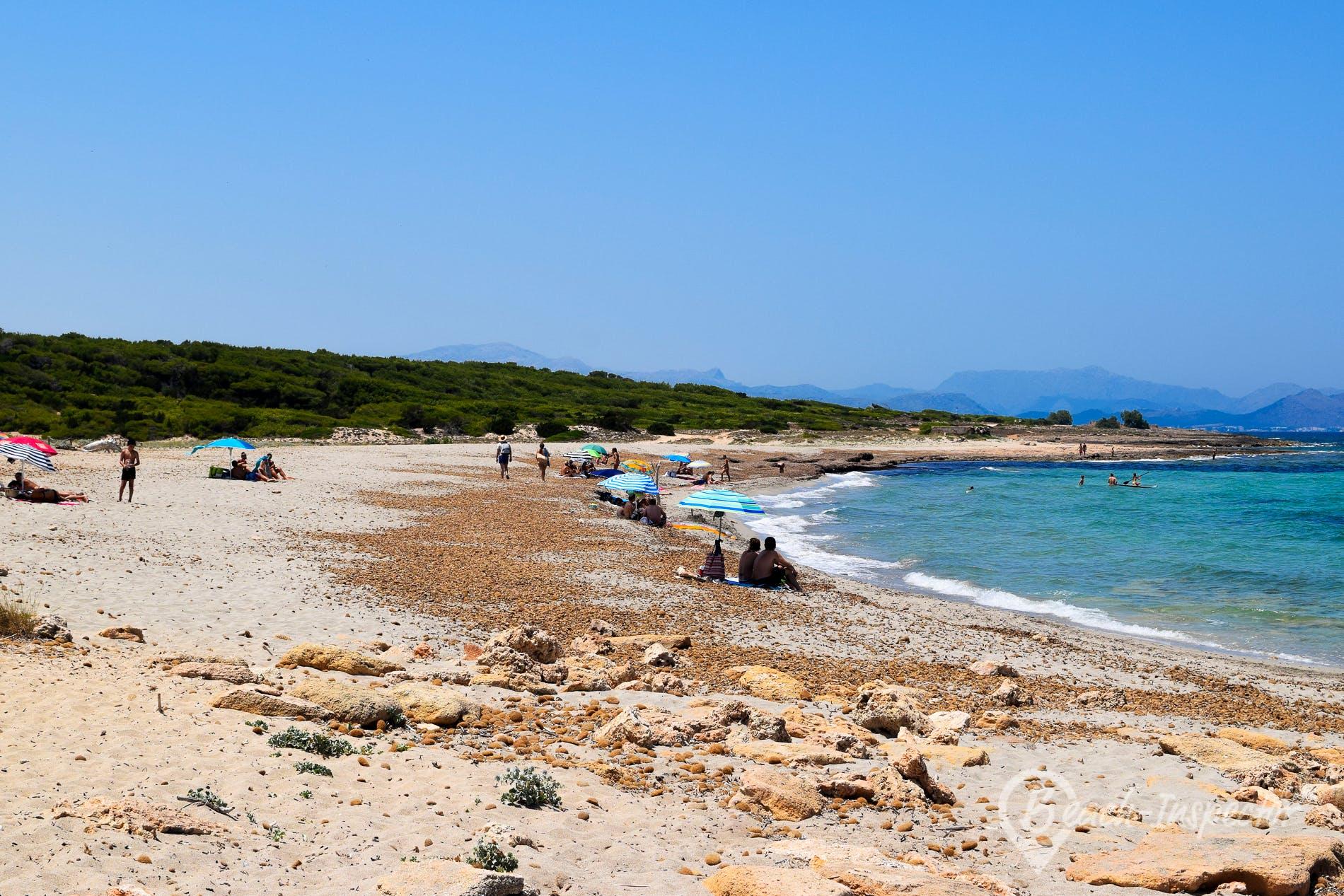 Beach Playa Son Real, Majorca, Spain