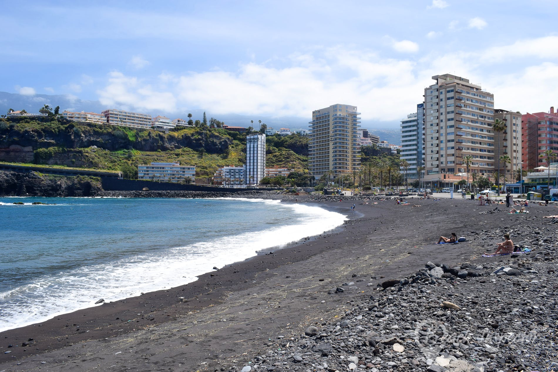 Beach Playa Martianez, Tenerife, Spain