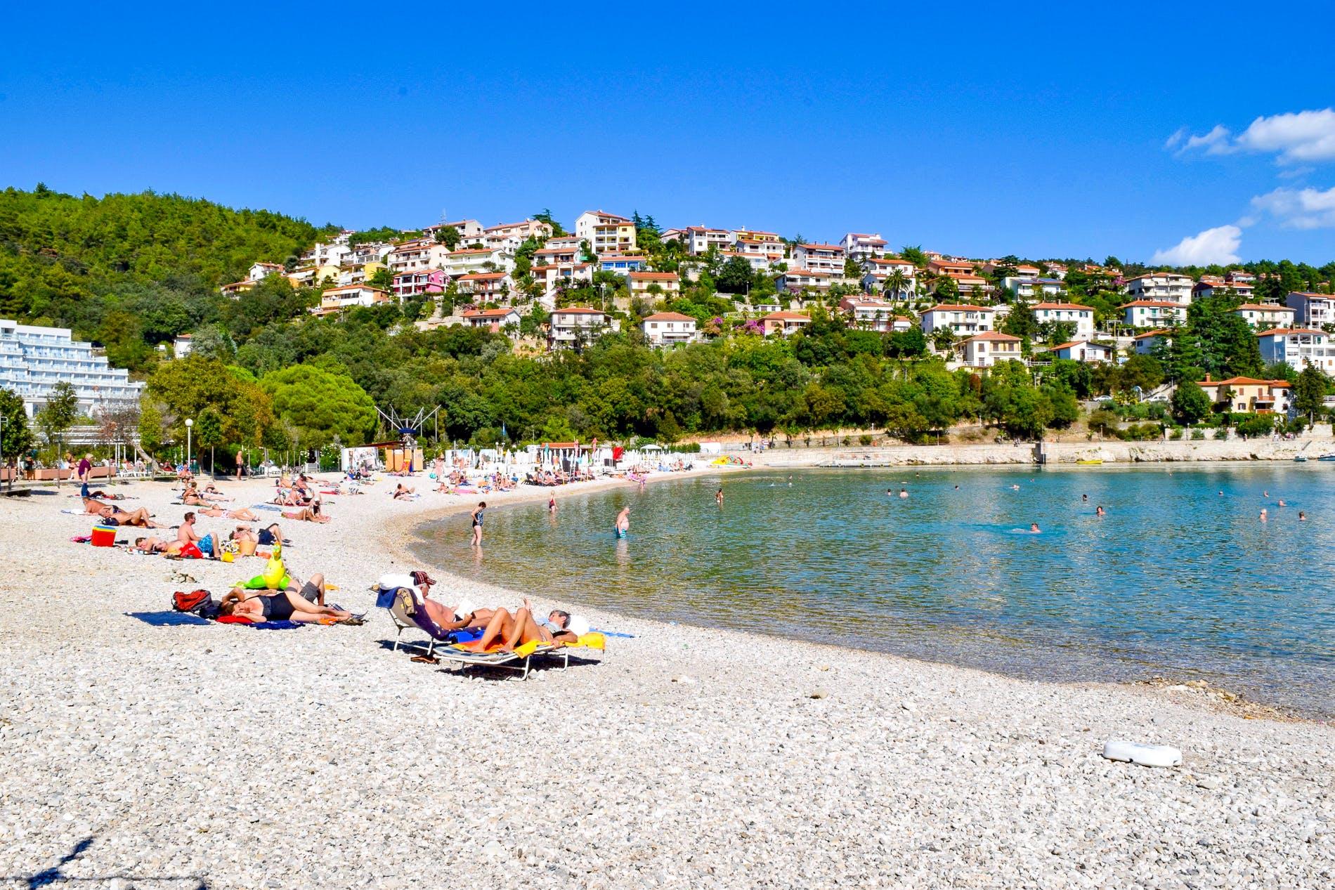 Beach Maslinica, Istria, Croatia