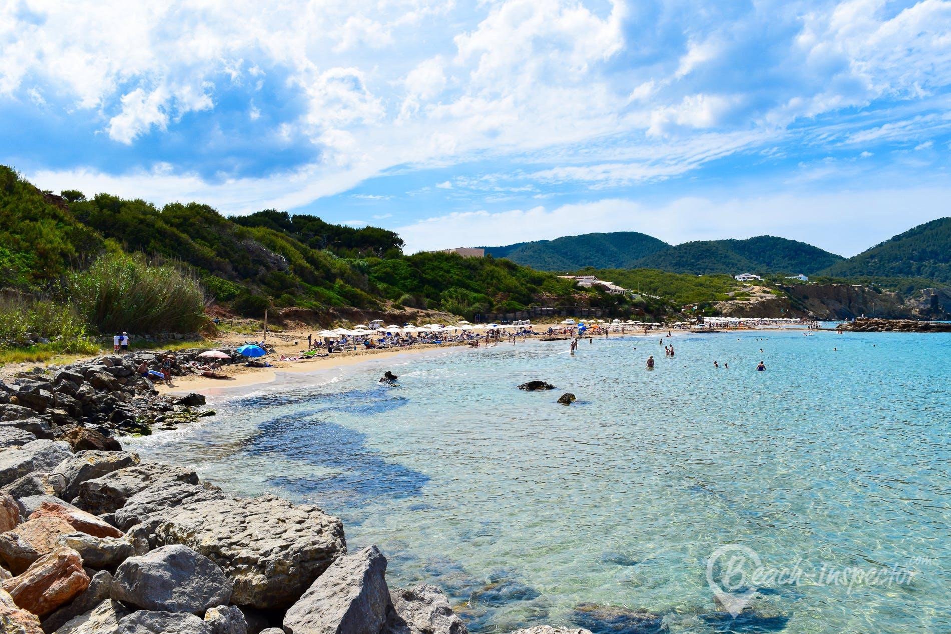 Beach Playa de Figueral, Ibiza, Spain