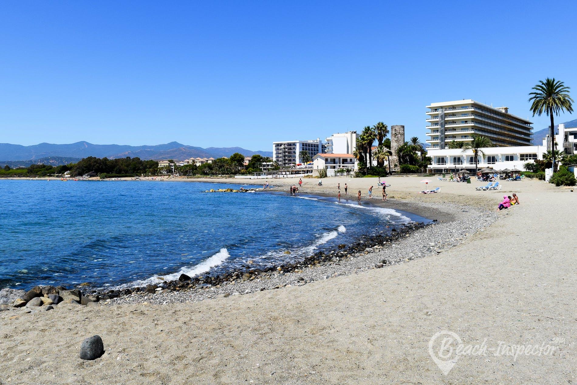 Playa Playa de Casasola-Atalaya, Costa del Sol, España