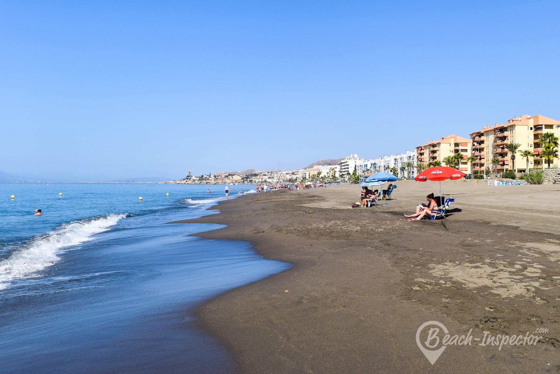 Strand Playa de Rincón de la Victoria, Costa del Sol, Spanien