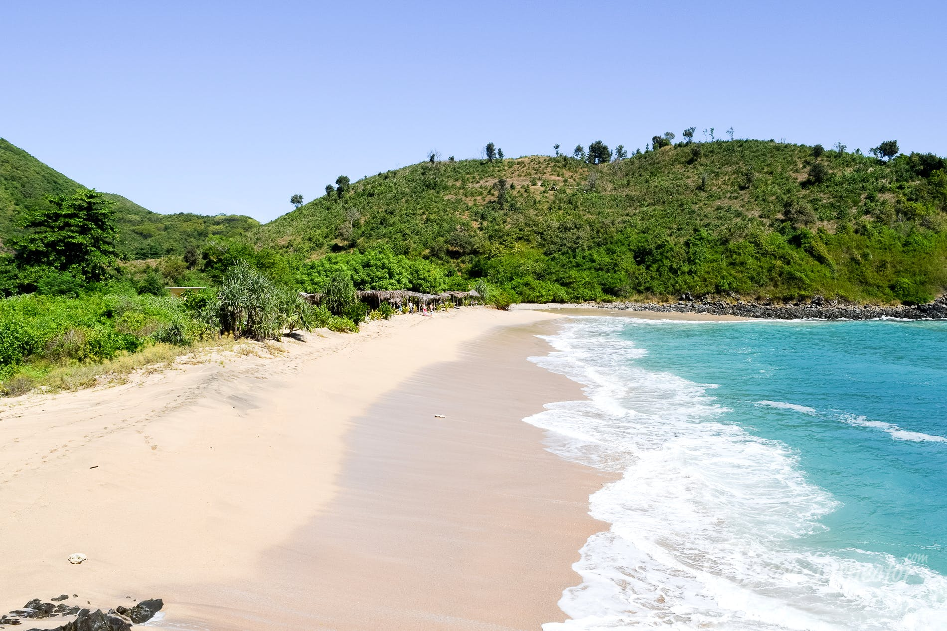 Strand Mawi Beach, Lombok, Indonesien
