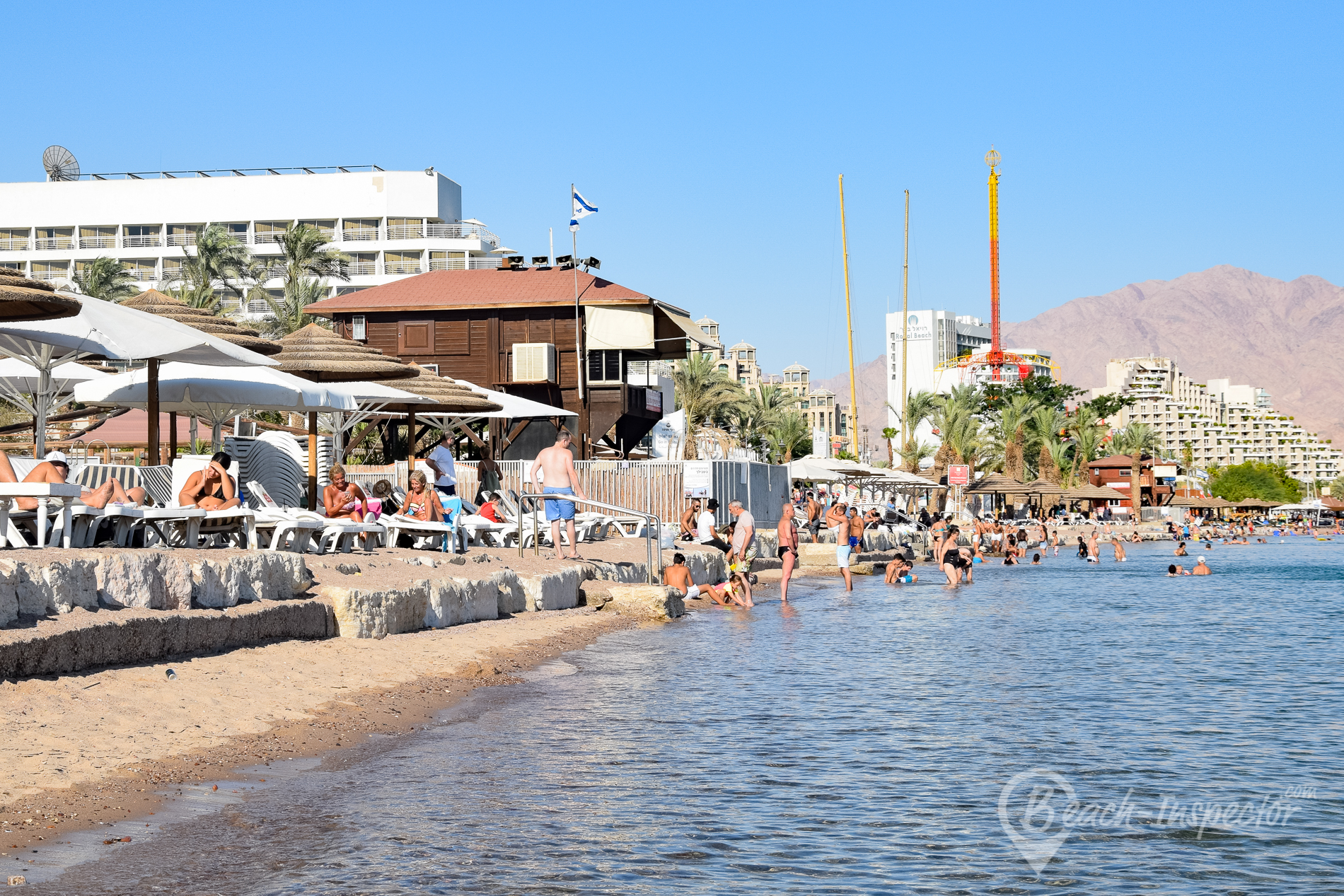 Beach map Eilat All beaches at a glance