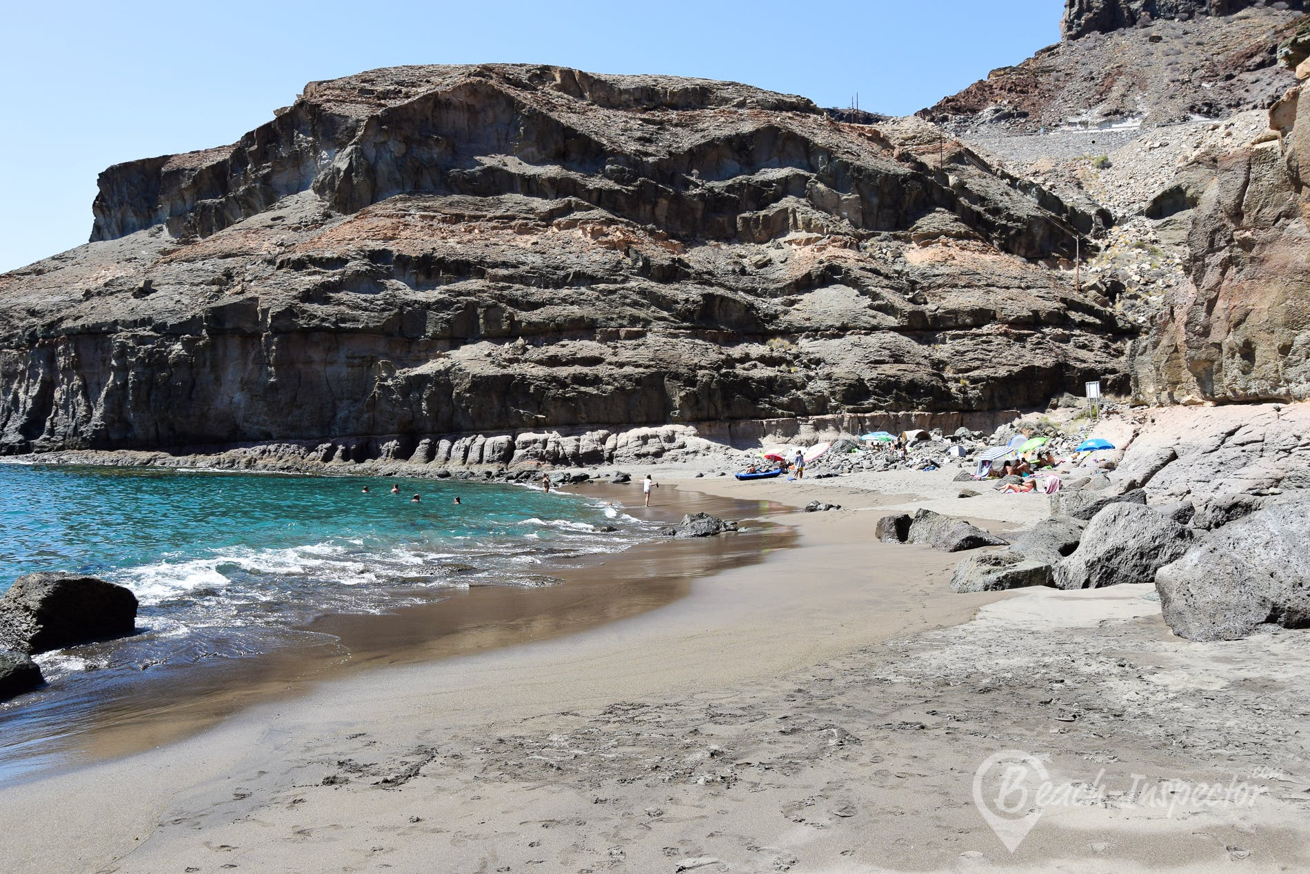 Beach Playa de Tiritaña, Gran Canaria, Spain