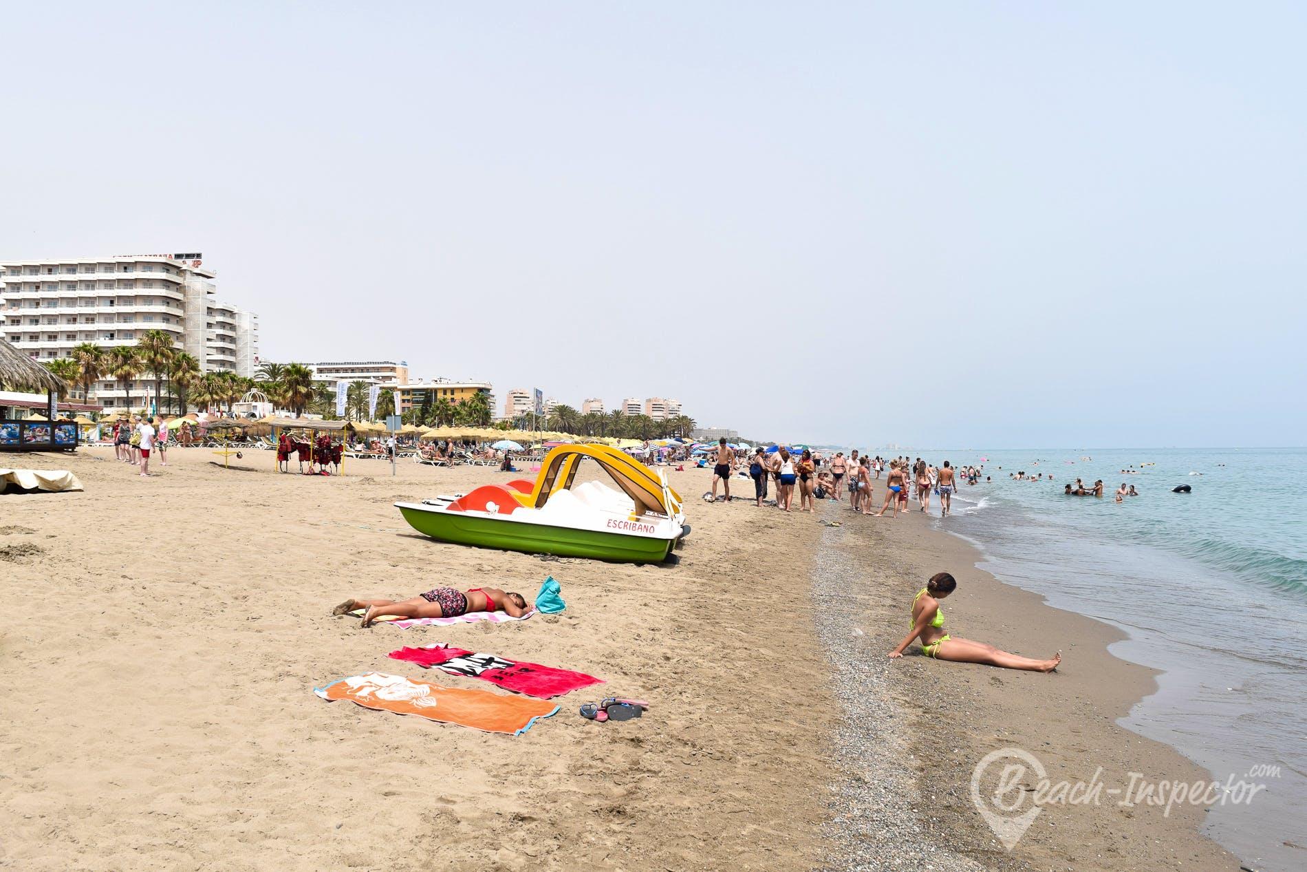 Strand Playa El Bajondillo, Costa del Sol, Spanien