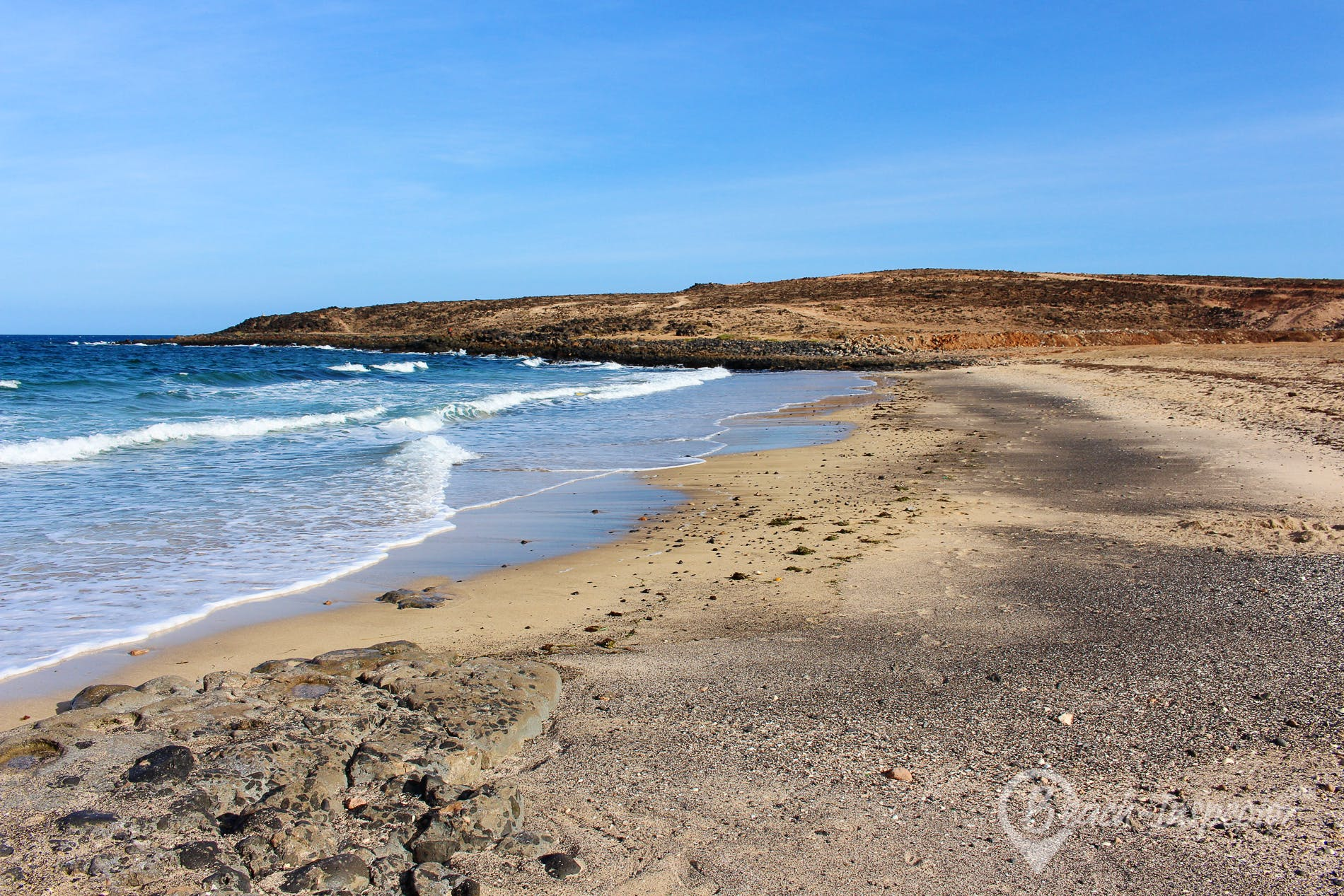 Beach Playa de las Caletillas, Fuerteventura, Spain