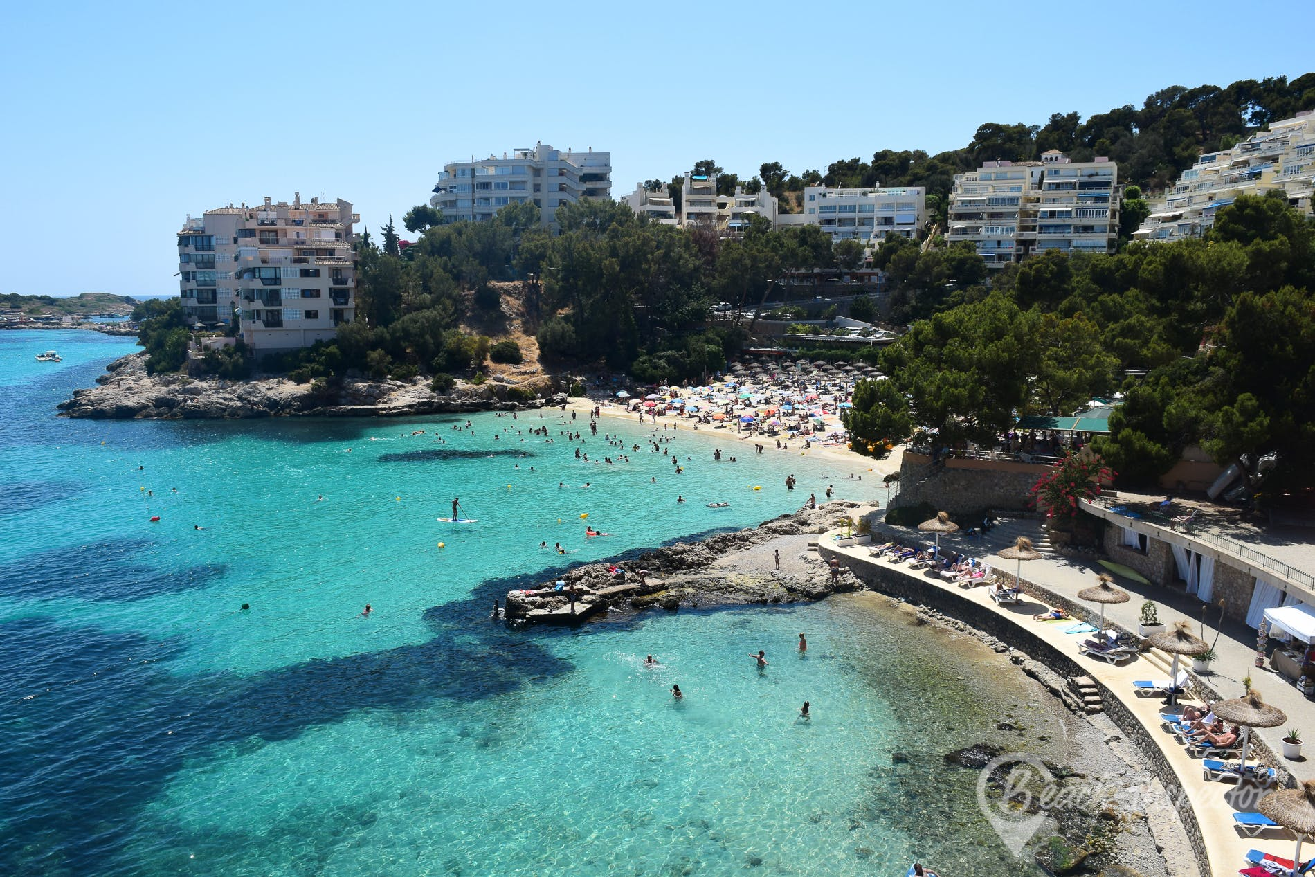 Beach Playa de Illetas, Majorca, Spain