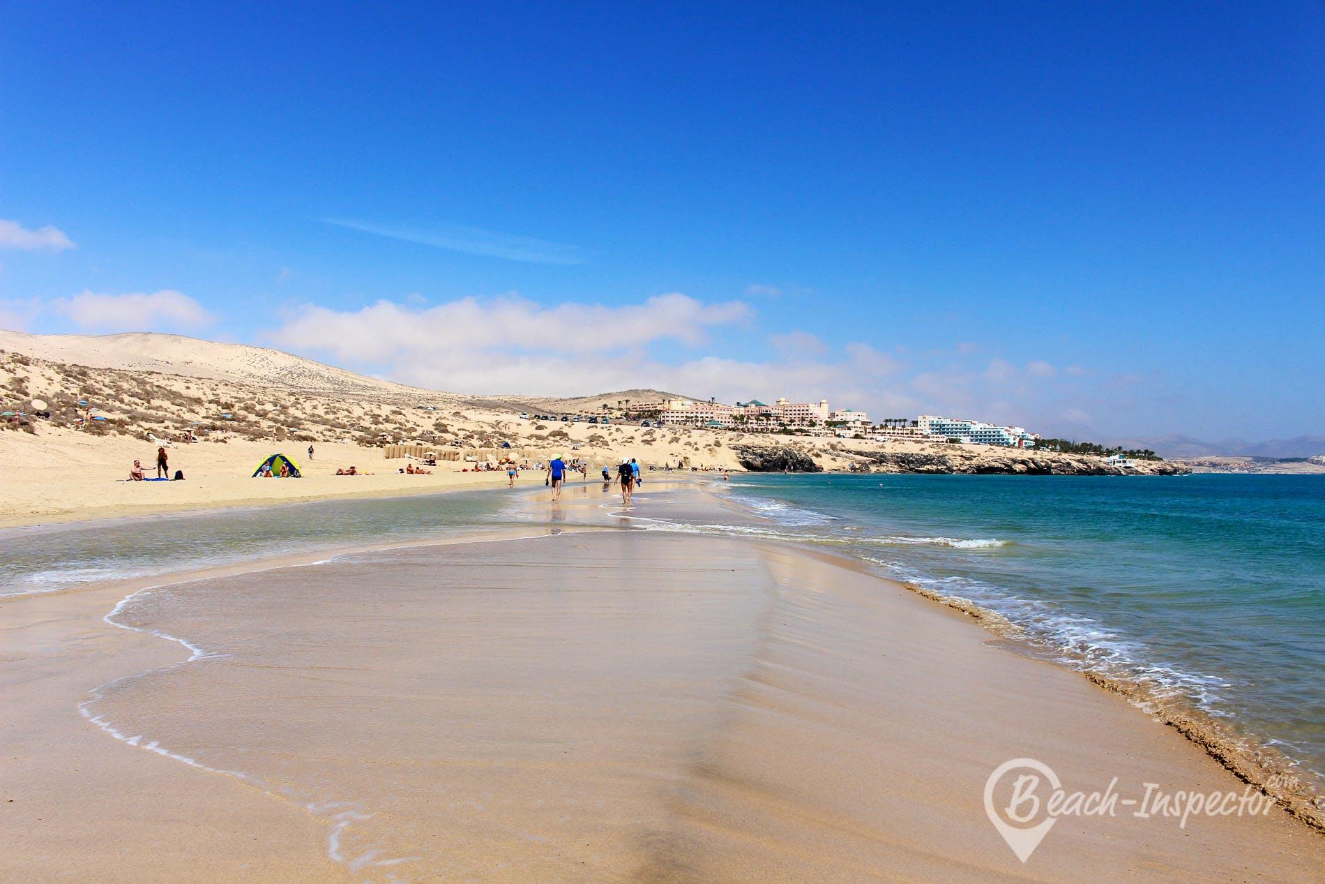 Strand Playa Esmeralda Süd, Fuerteventura, Spanien