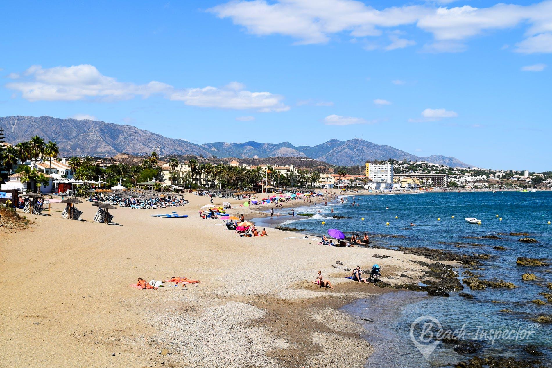 Strand Playa El Bombo, Costa del Sol, Spanien