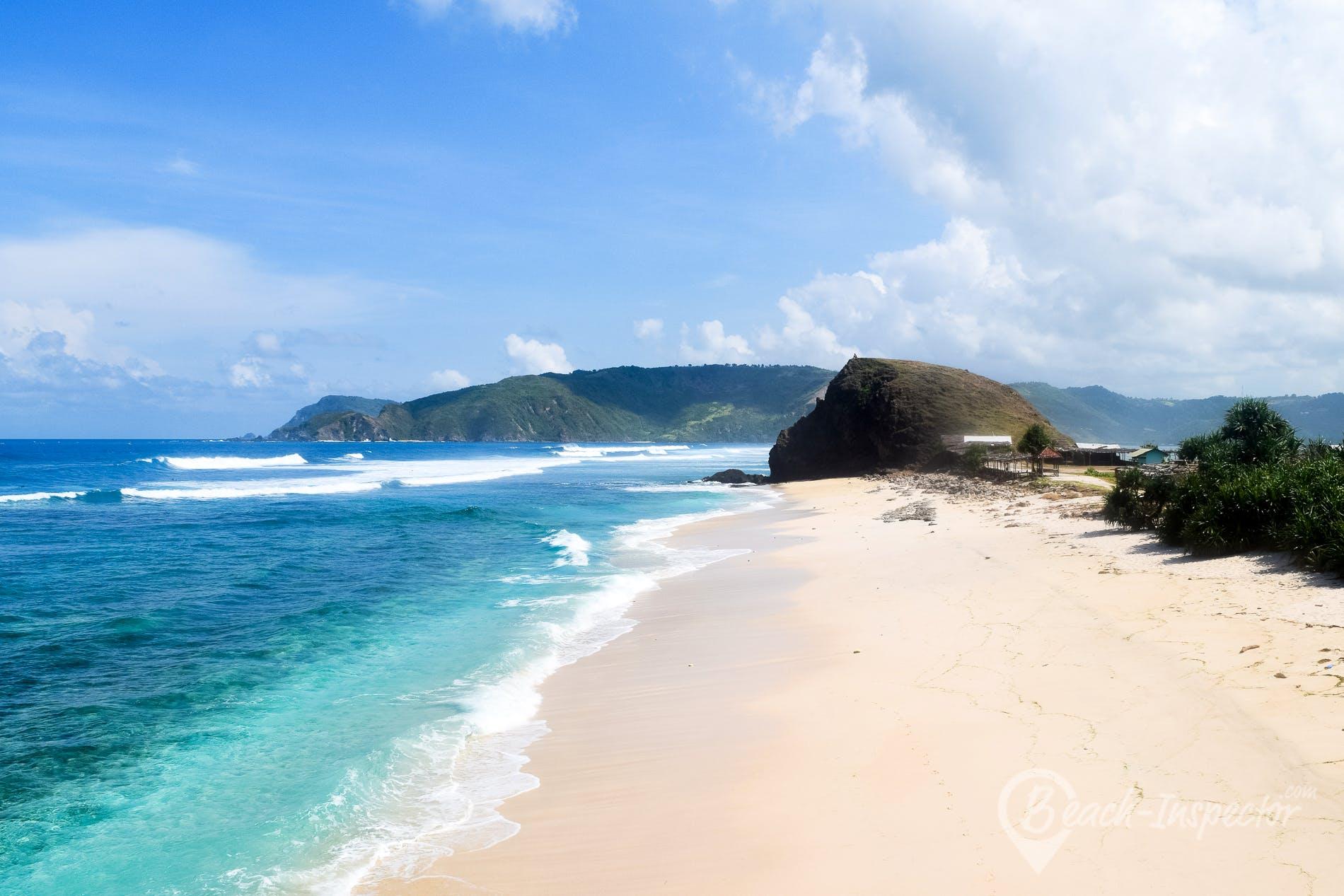 Strand Seger Beach, Lombok, Indonesien