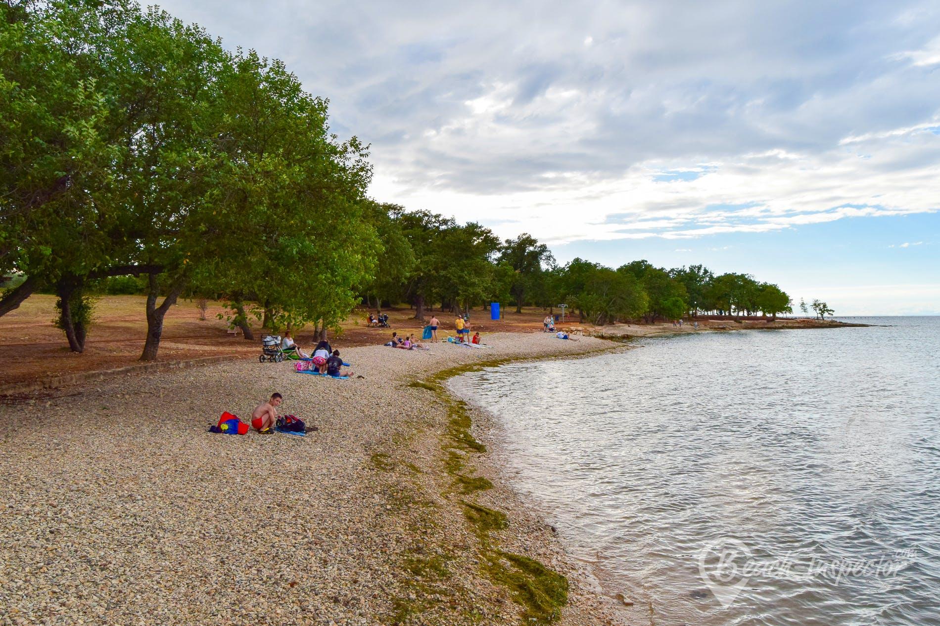 Playa Cervar Porat, Istria, Croacia