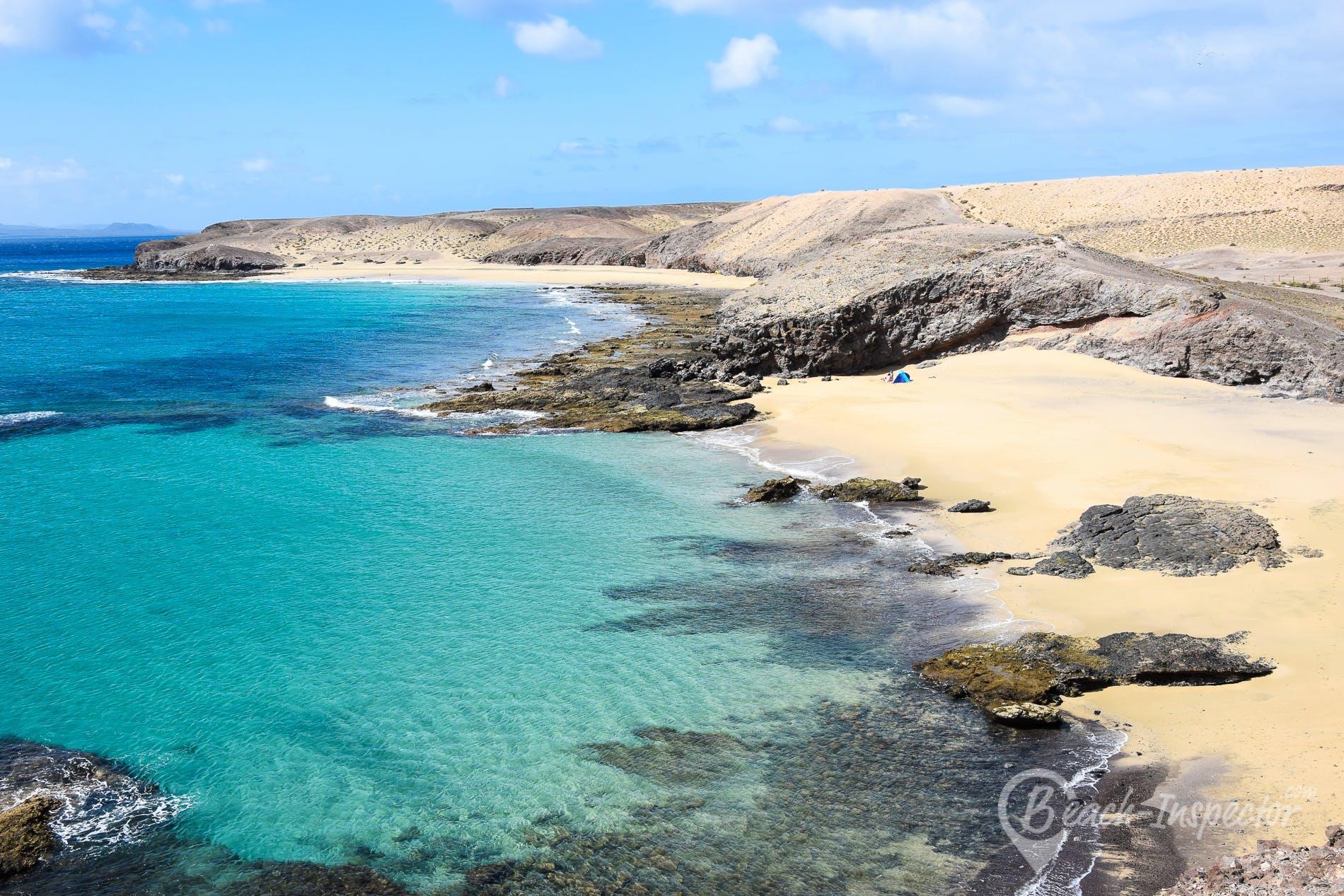 Beach Puerto Muelas, Lanzarote, Spain