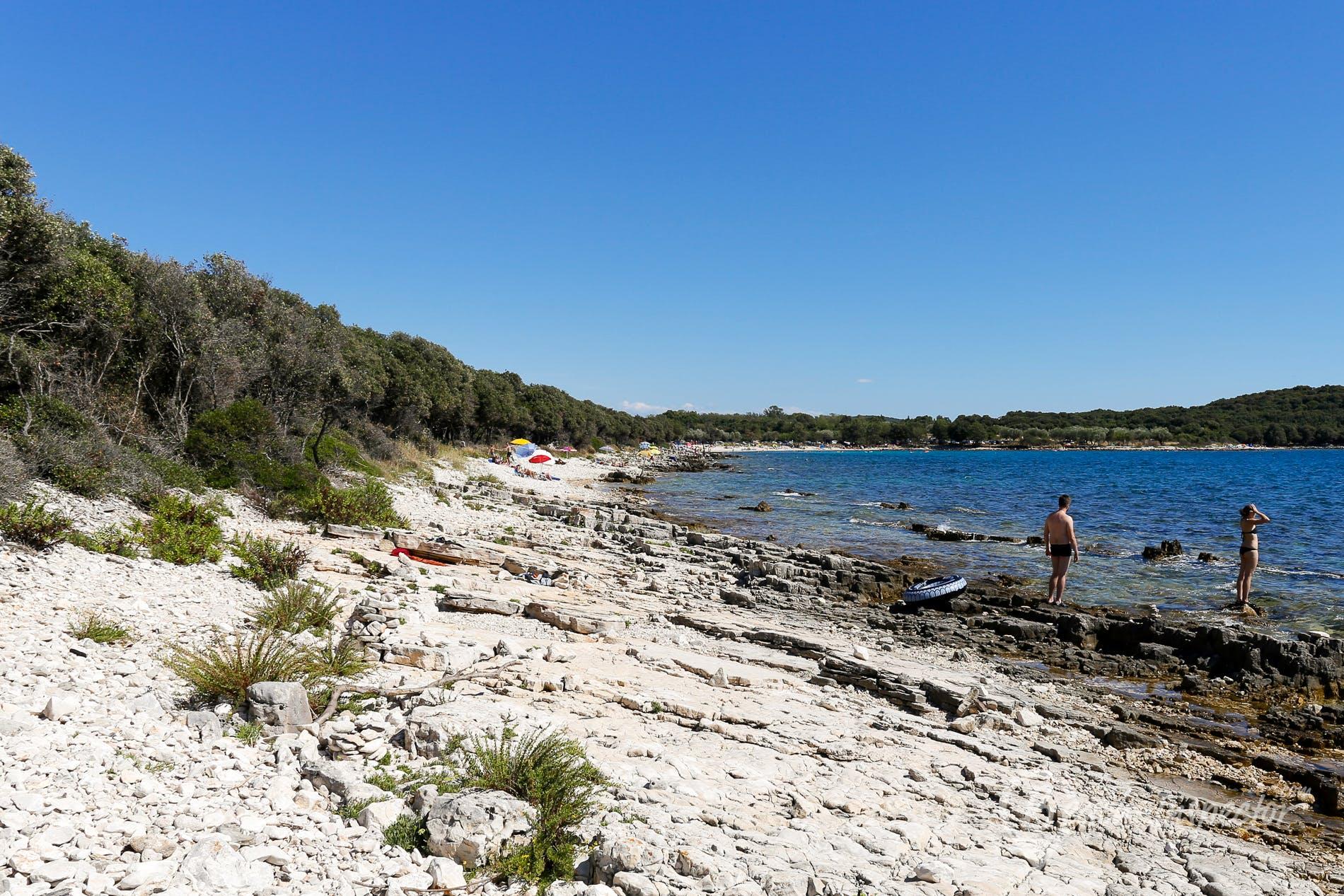 Strand Cisterna Beach, Istrien, Kroatien