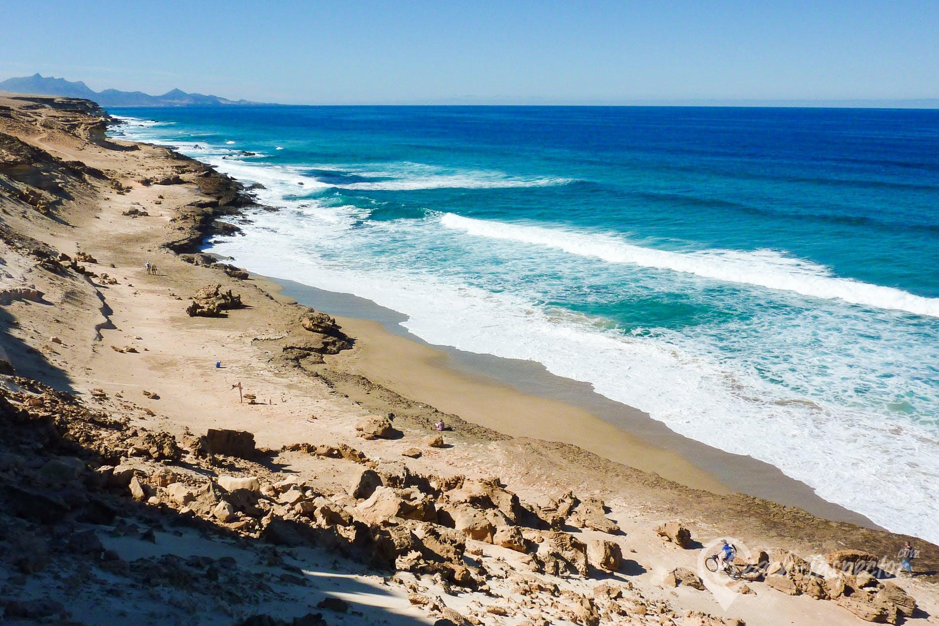 Beach Playa Agua Liques, Fuerteventura, Spain
