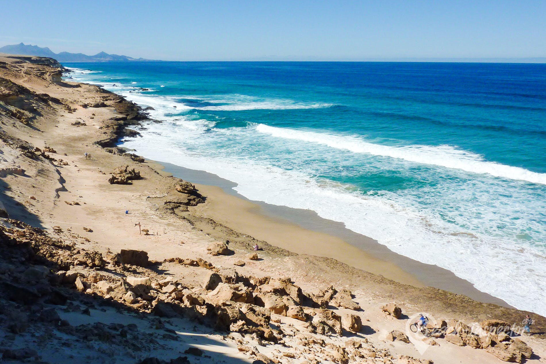 Strand Playa Agua Liques, Fuerteventura, Spanien