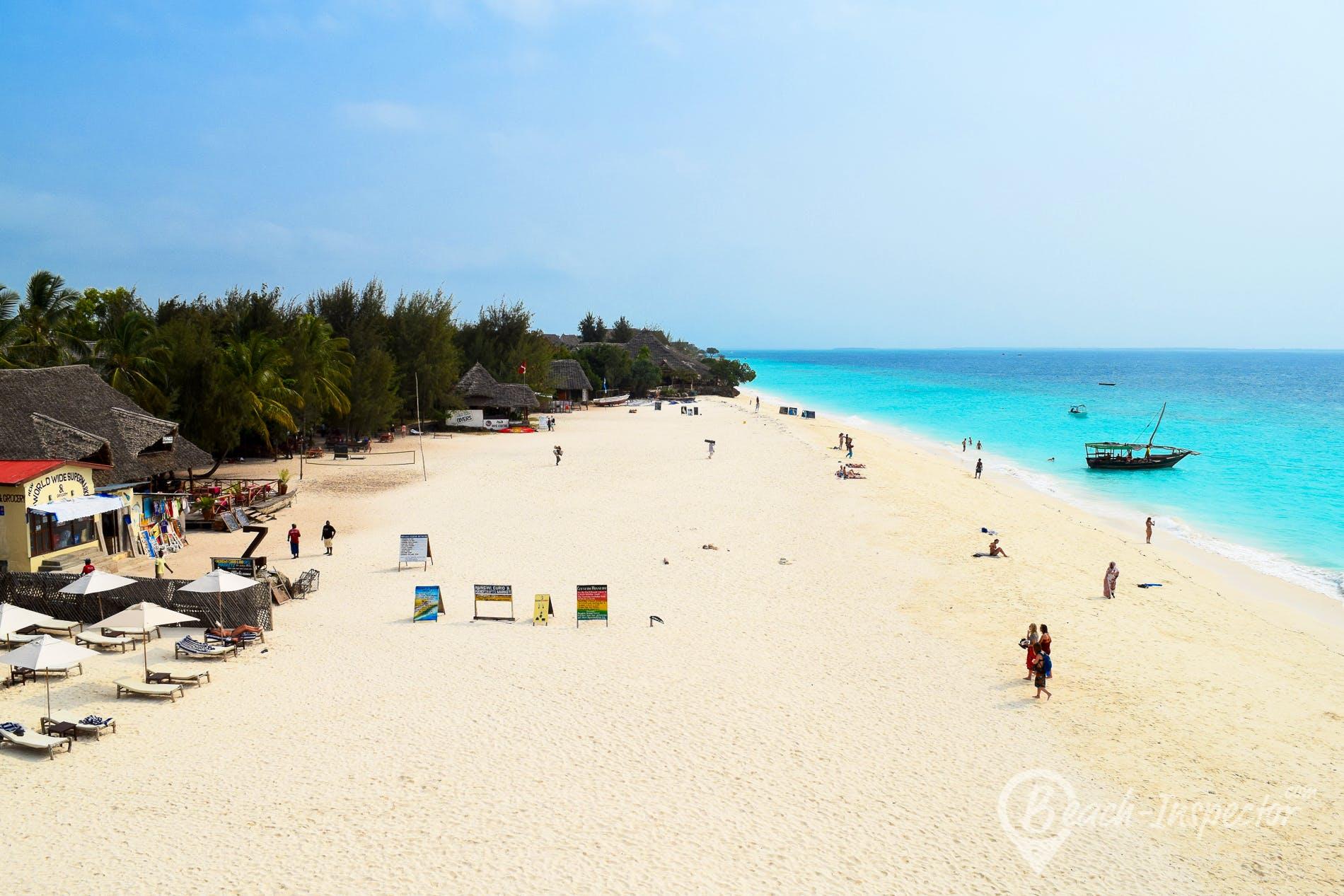 Strand Nungwi Beach West, Sansibar,