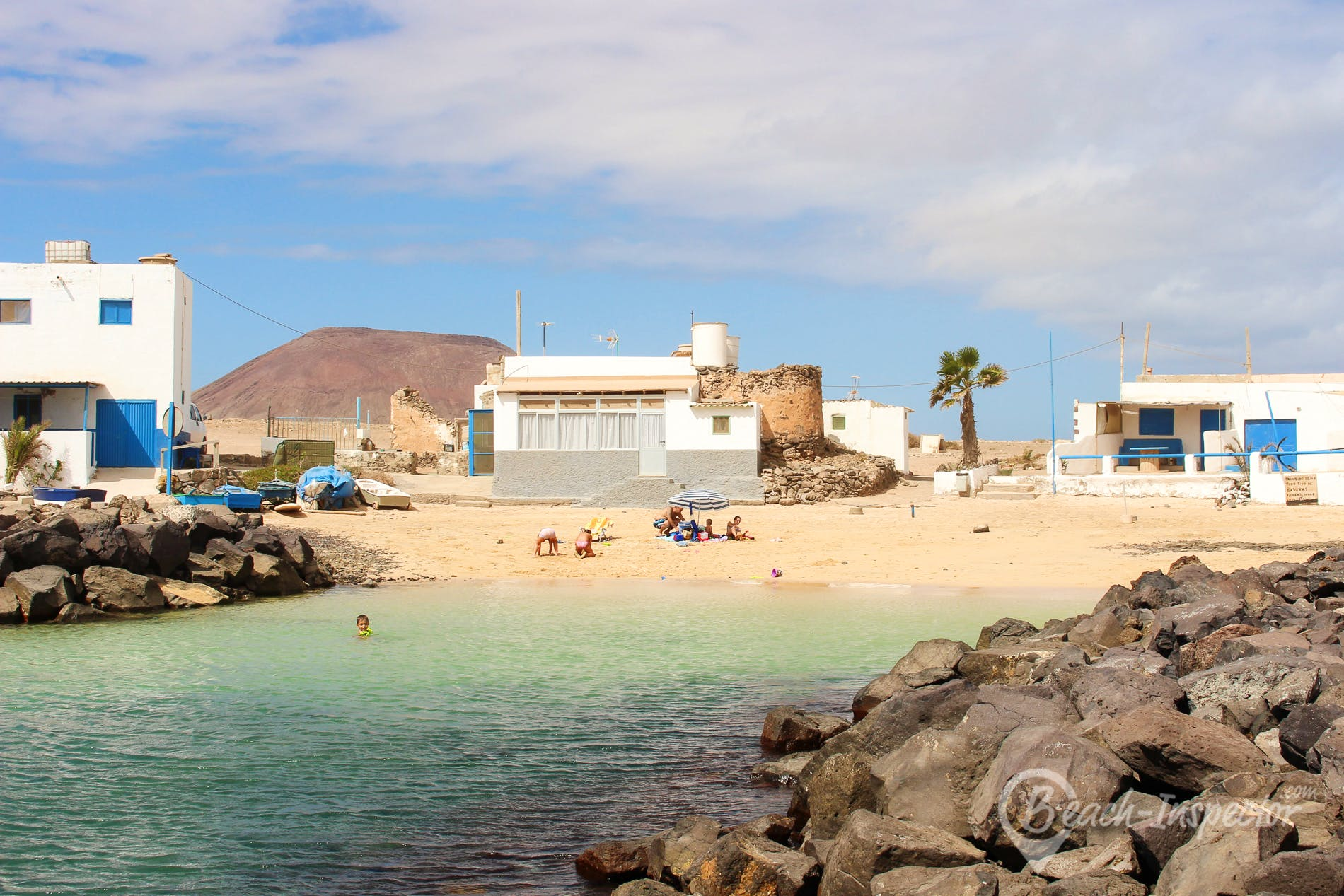 Beach Playa el Jablito, Fuerteventura, Spain