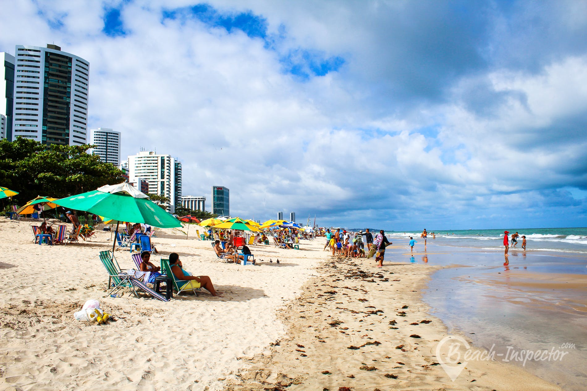 Strand Praia do Pina, Pernambuco, Brasilien
