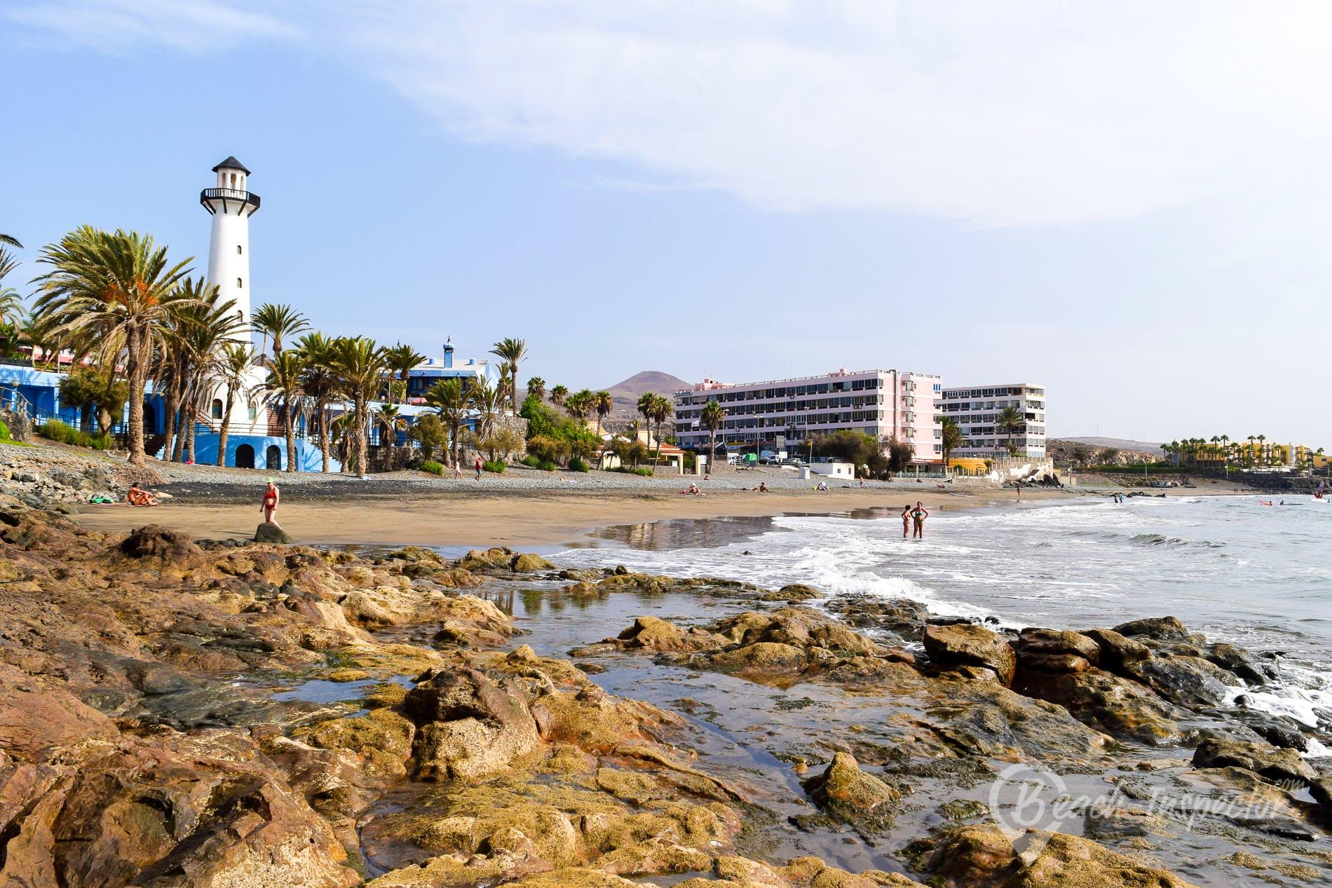 Beach Playa del Águila, Gran Canaria, Spain