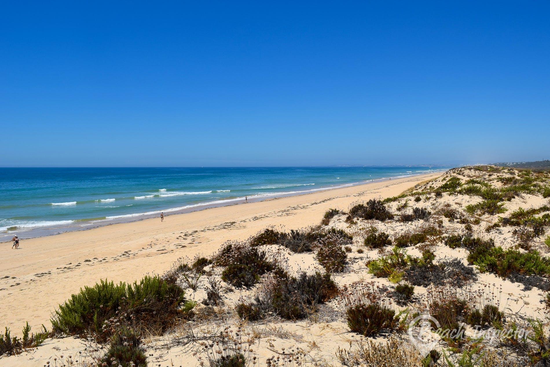 Strand Praia de Faro, Algarve, Portugal