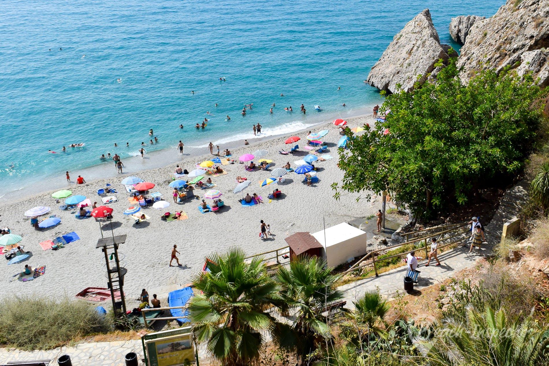 Playa Playa Carabeo, Costa del Sol, España