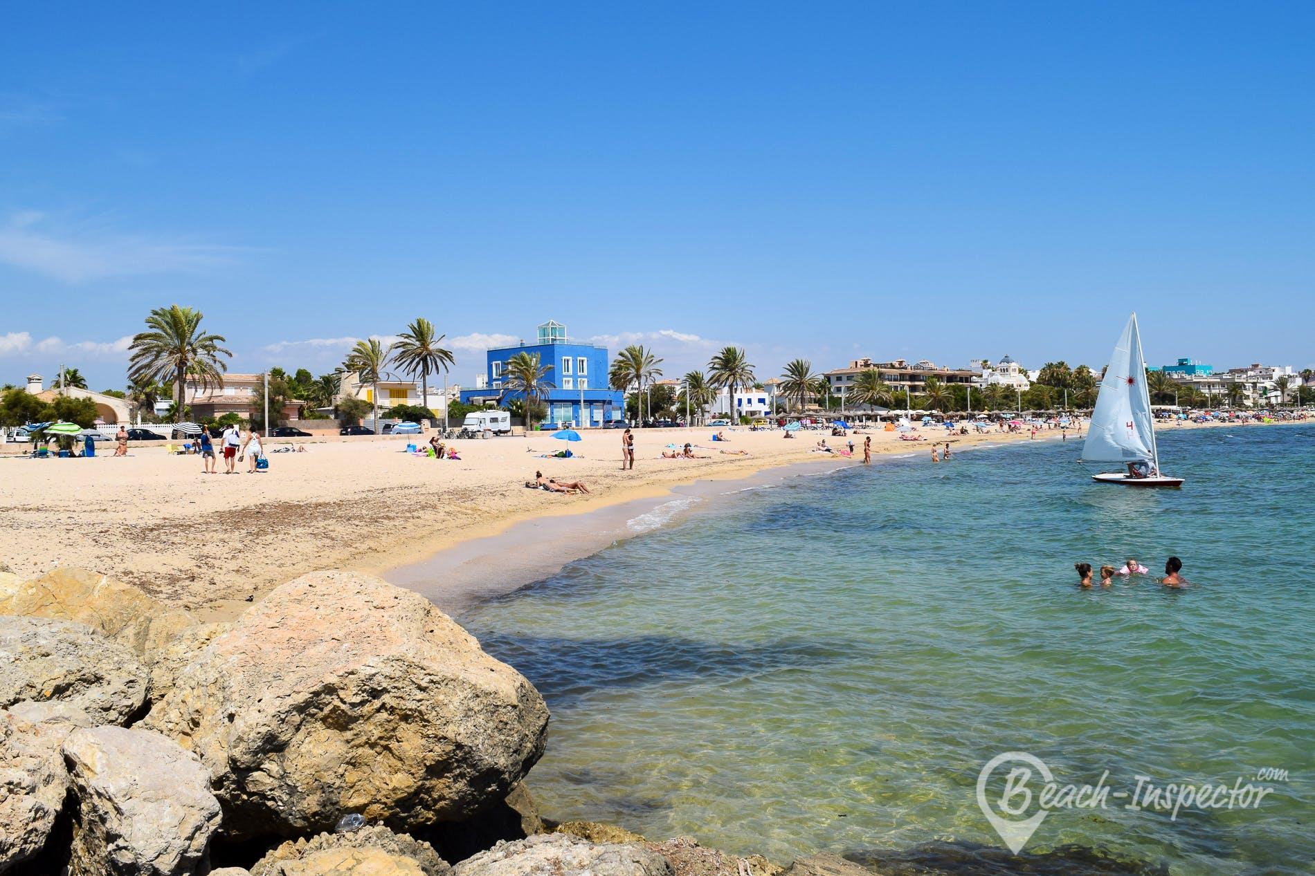 Strand Playa Ciudad Jardín, Mallorca, Spanien