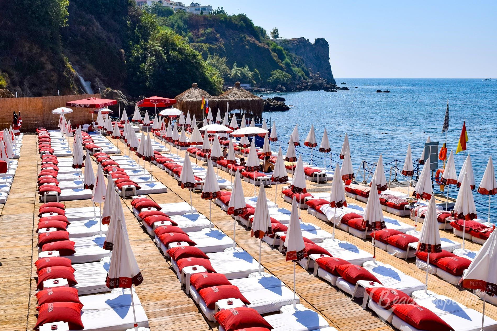 Strand BLM Beach, Türkische Riviera, Türkei