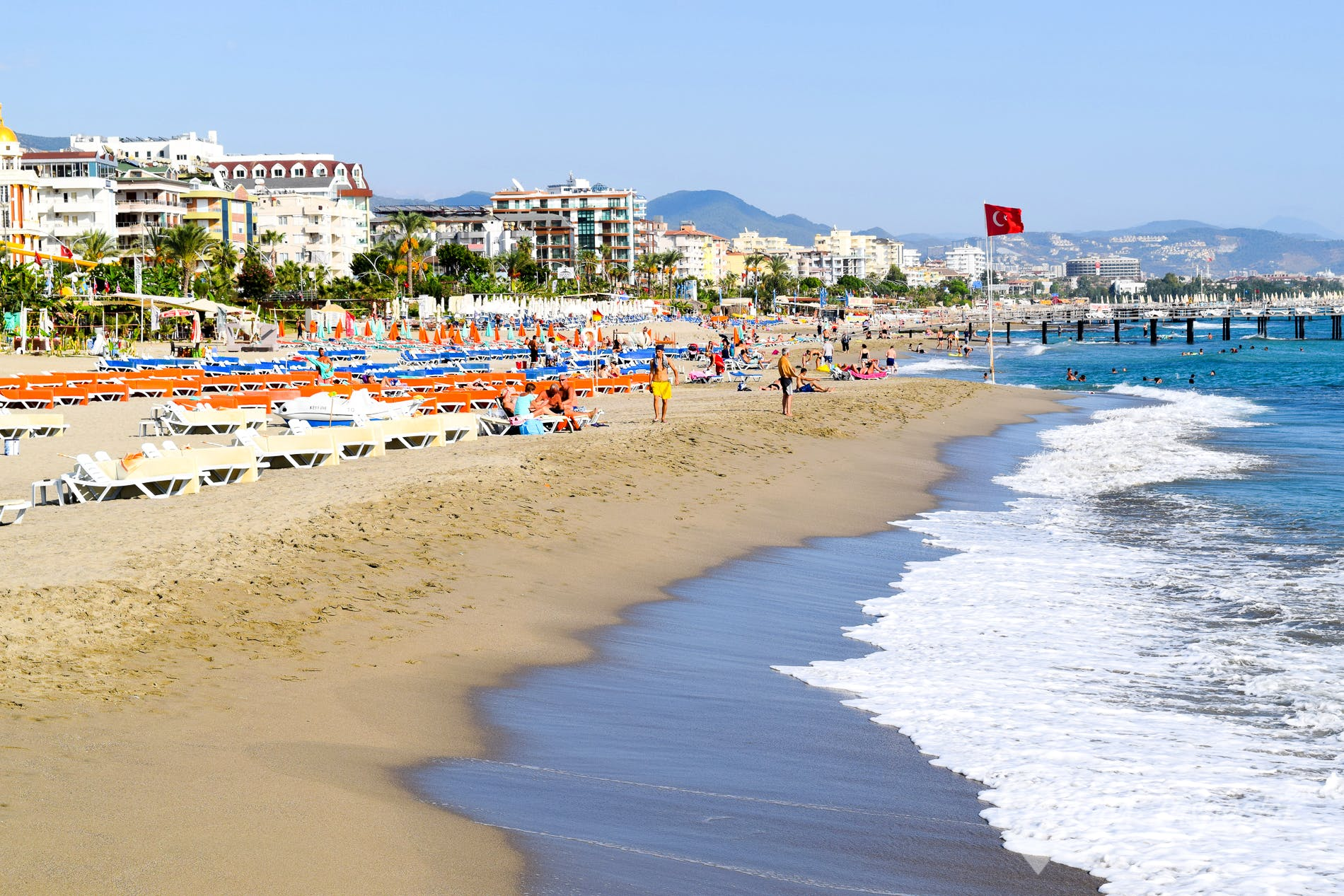 Beach Oba Beach, Turkish Riviera, Turkey