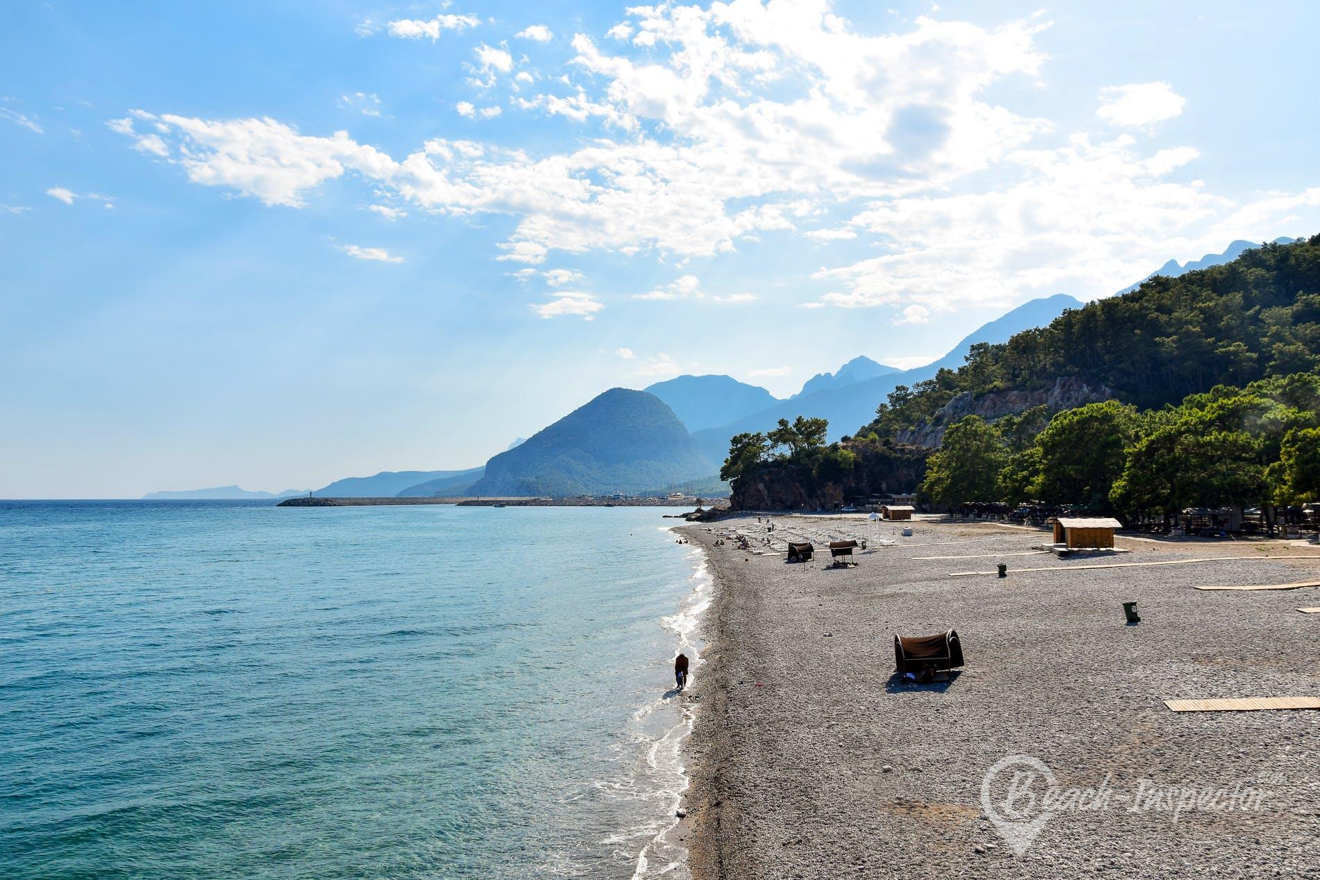 Strand Topcam Beach, Türkische Riviera, Türkei
