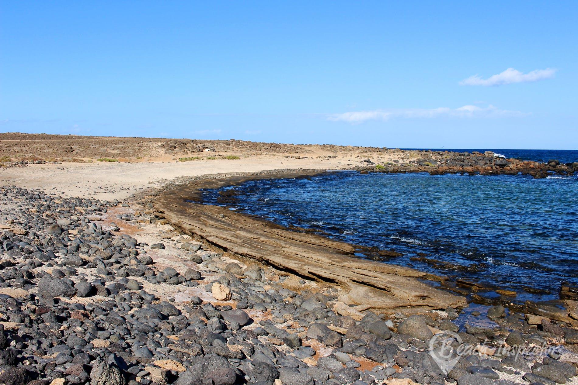 Playa Steinfelsbucht bei Lajas, Fuerteventura, España