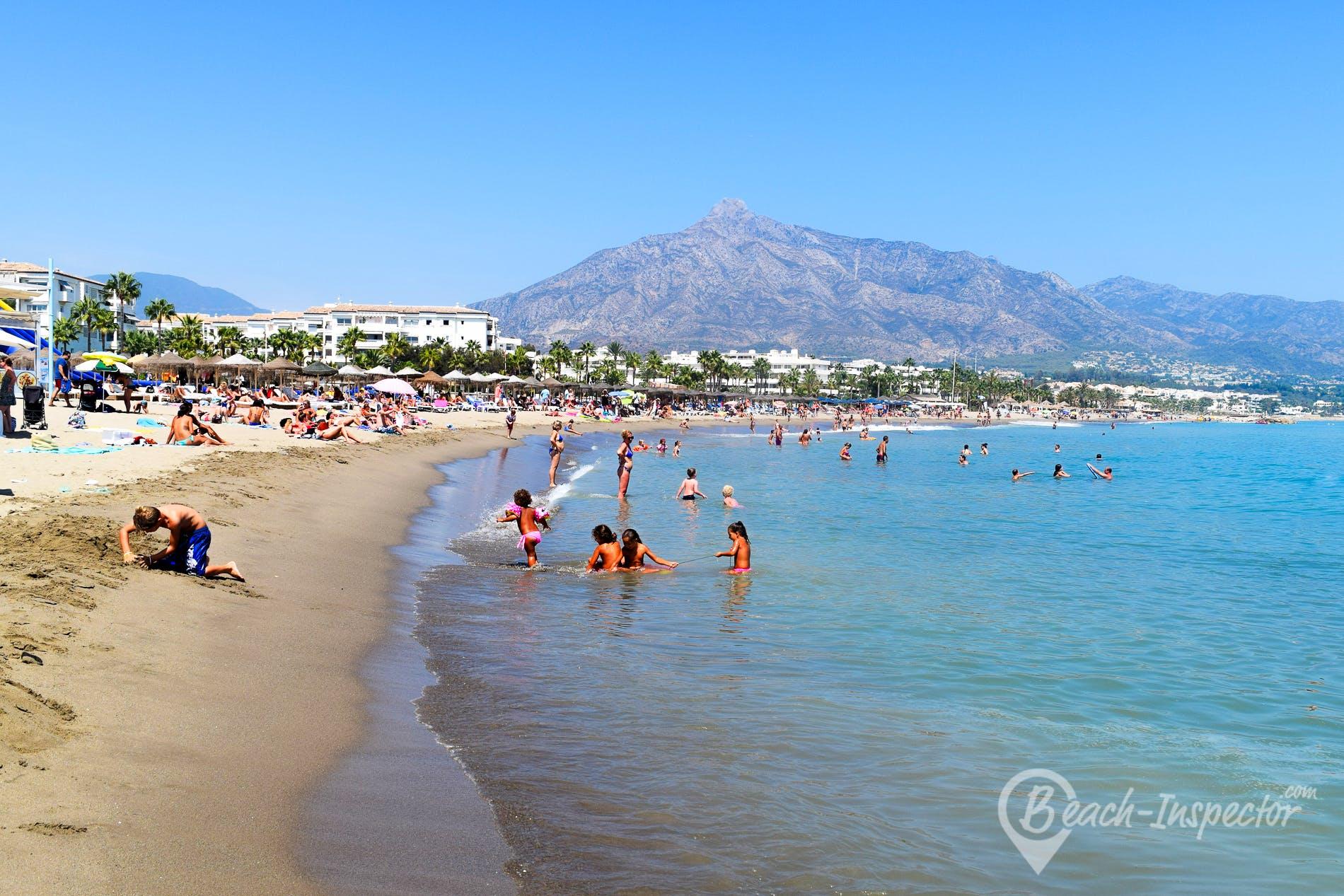 Beach Playa de Puerto Banús, Costa del Sol, Spain