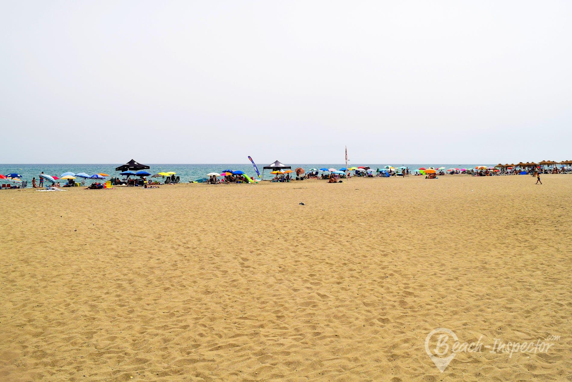 Strand Playa Los Álamos, Costa del Sol, Spanien