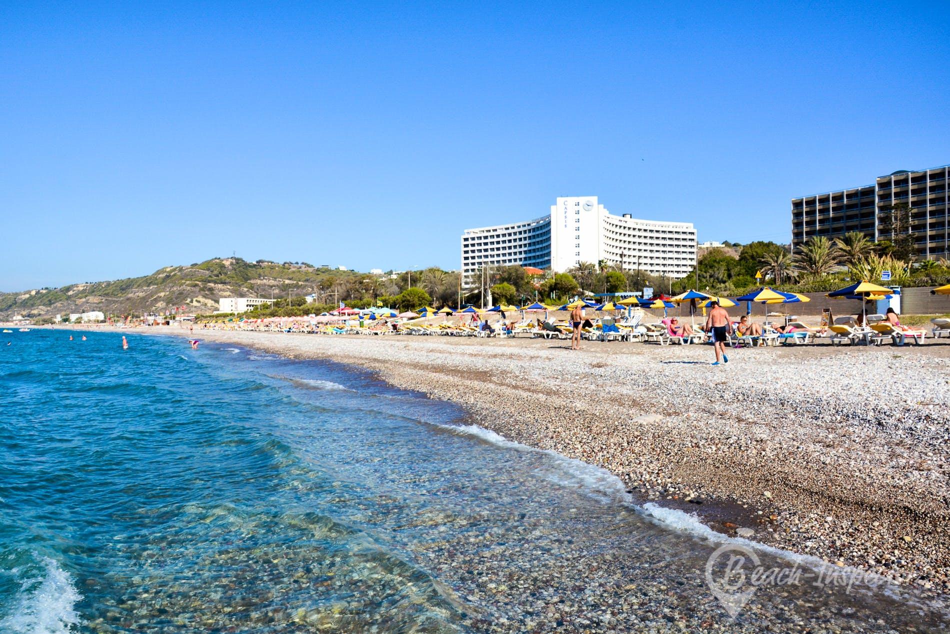 Beach Ixia Beach, Rhodes, Greece