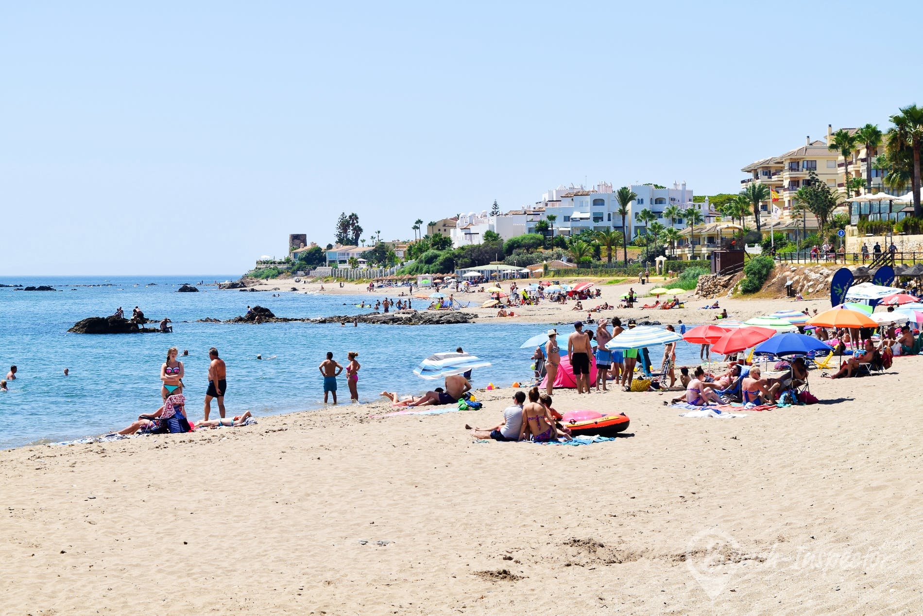 Beach Playa de Calahonda, Costa del Sol, Spain