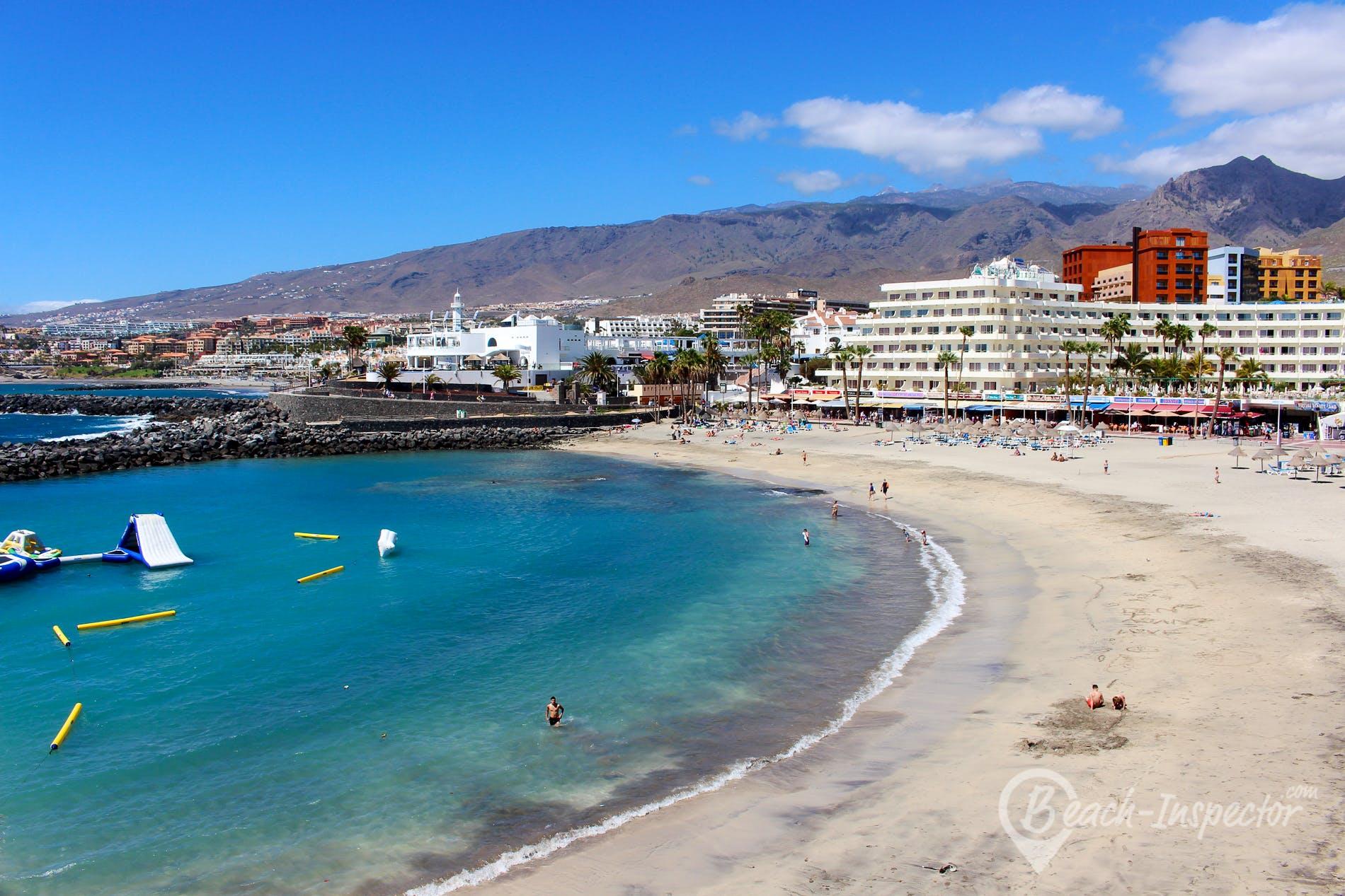Beach Playa Puerto Colón, Tenerife, Spain