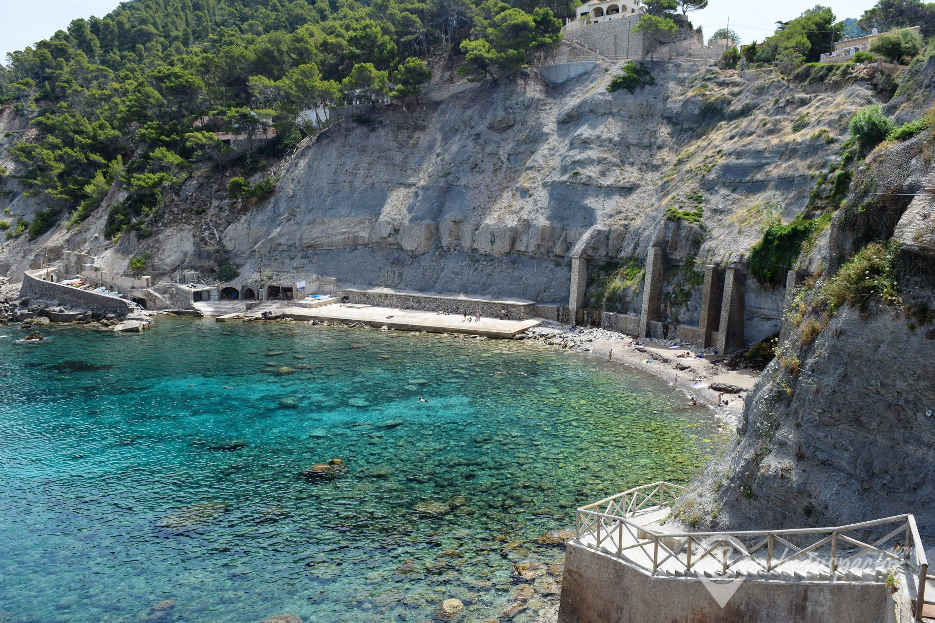 Playa Cala Banyalbufar, Mallorca, España