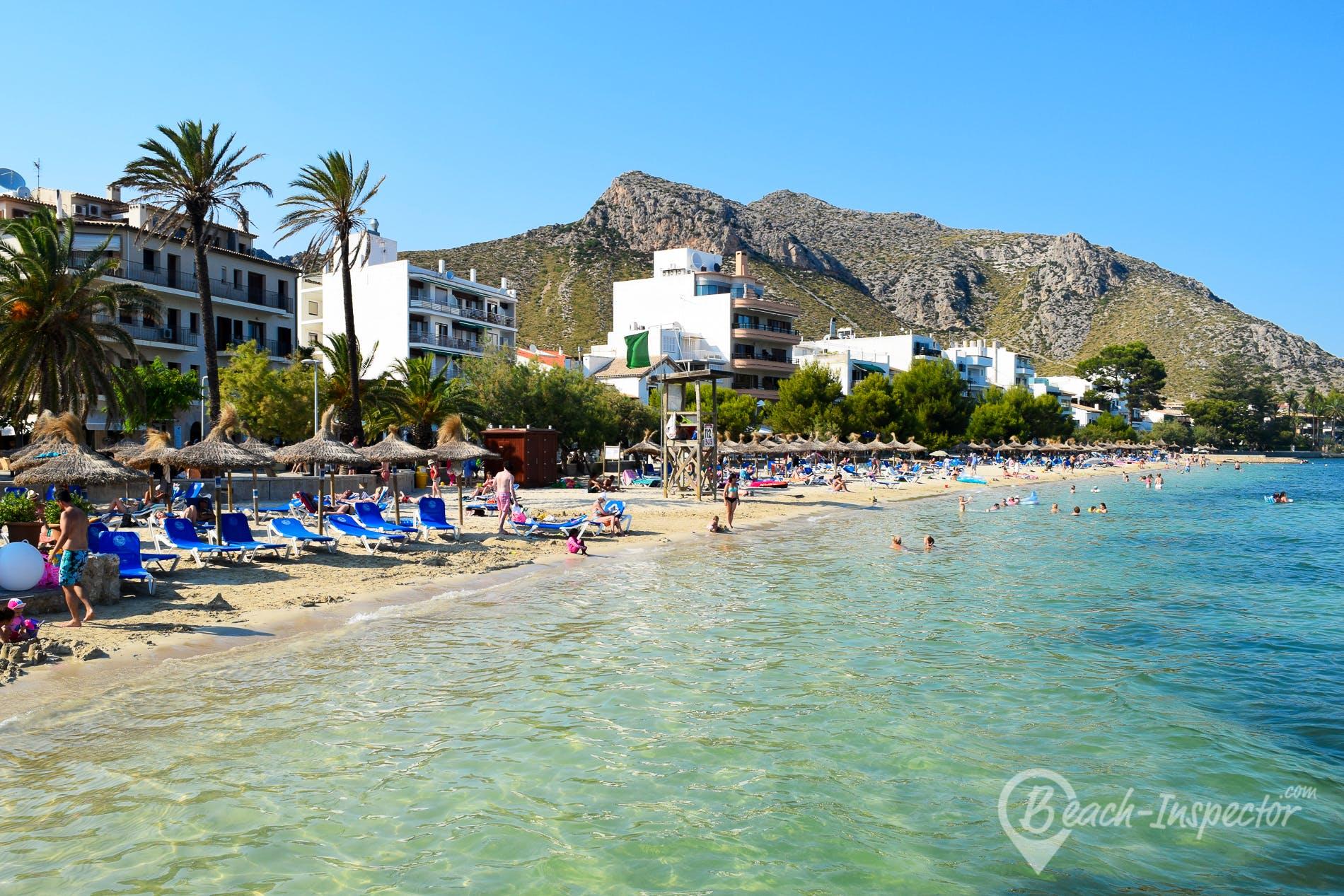 Strand Playa d'Albercuix, Mallorca, Spanien