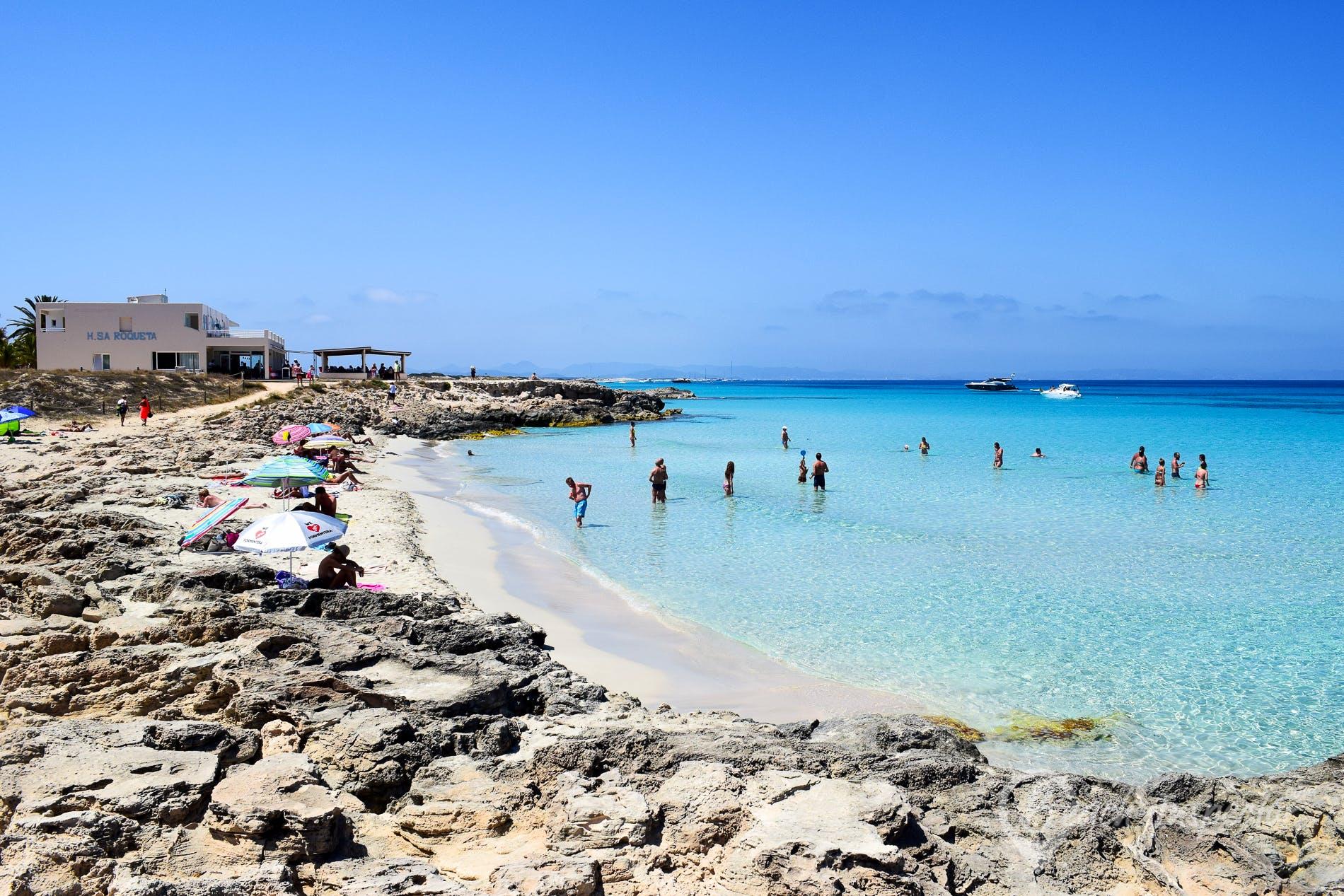 Beach Playa sa Roqueta, Formentera, Spain