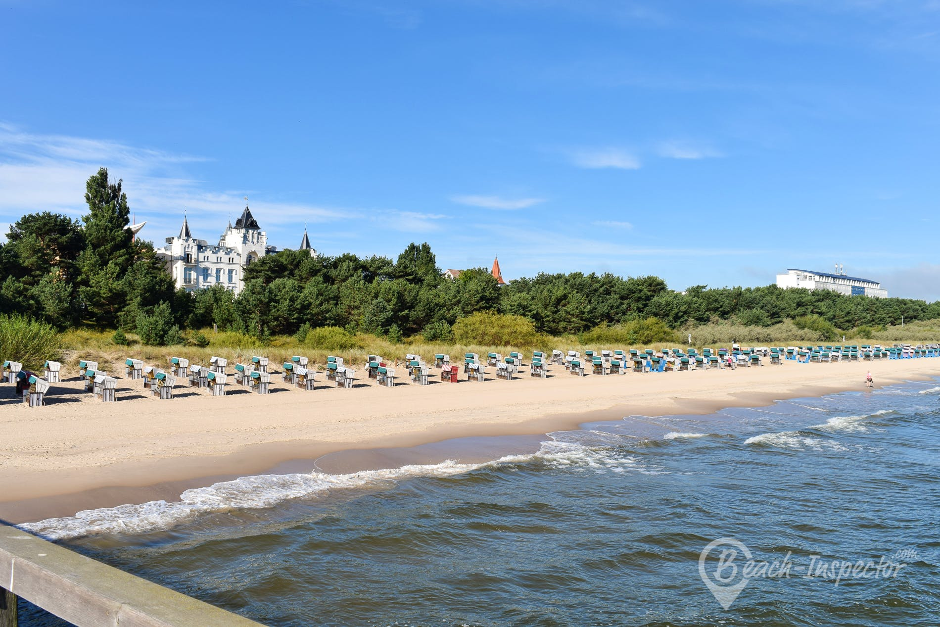 Beach Ostseebad Zinnowitz, Usedom, Germany