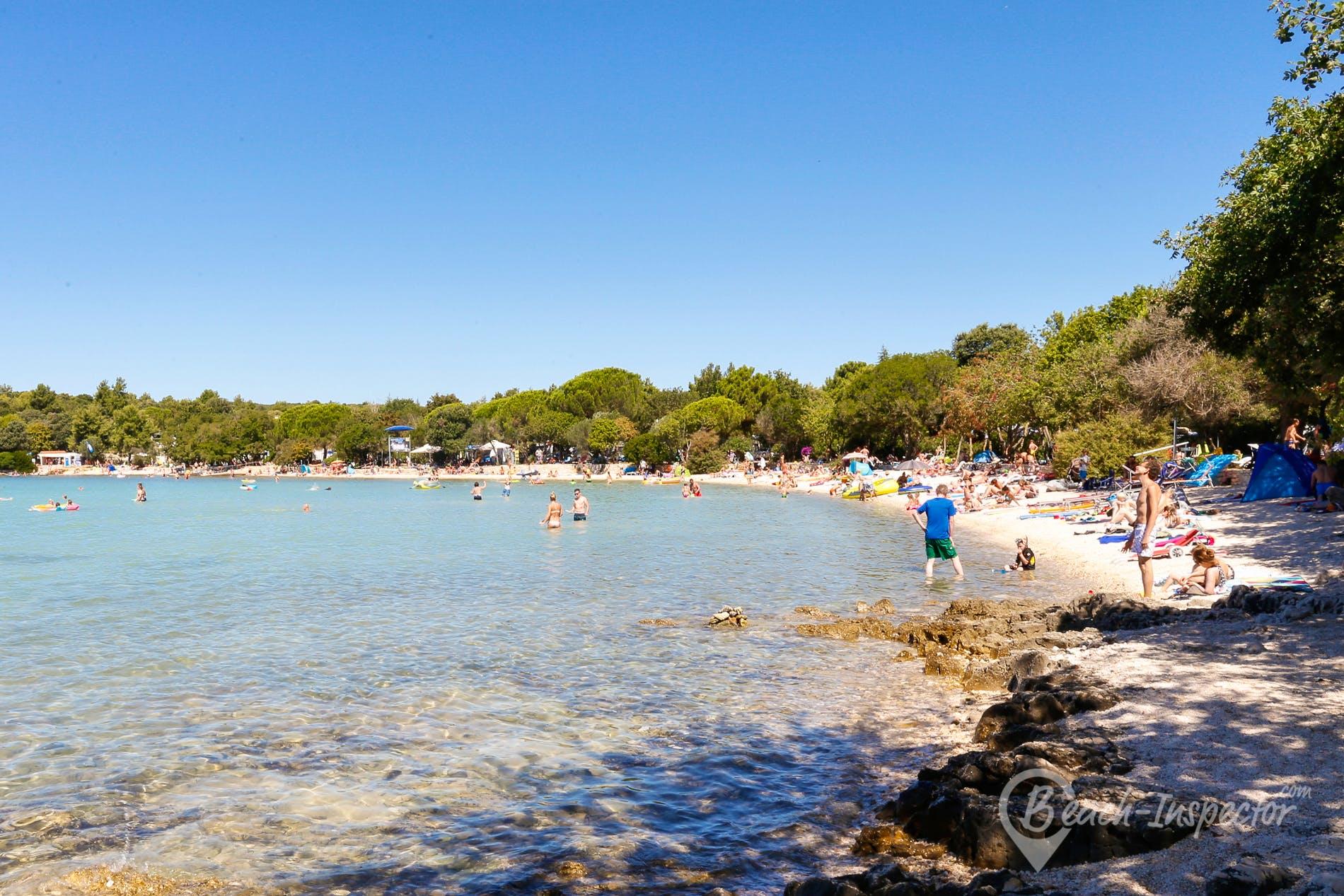 Strand Vestar Beach, Istrien, Kroatien