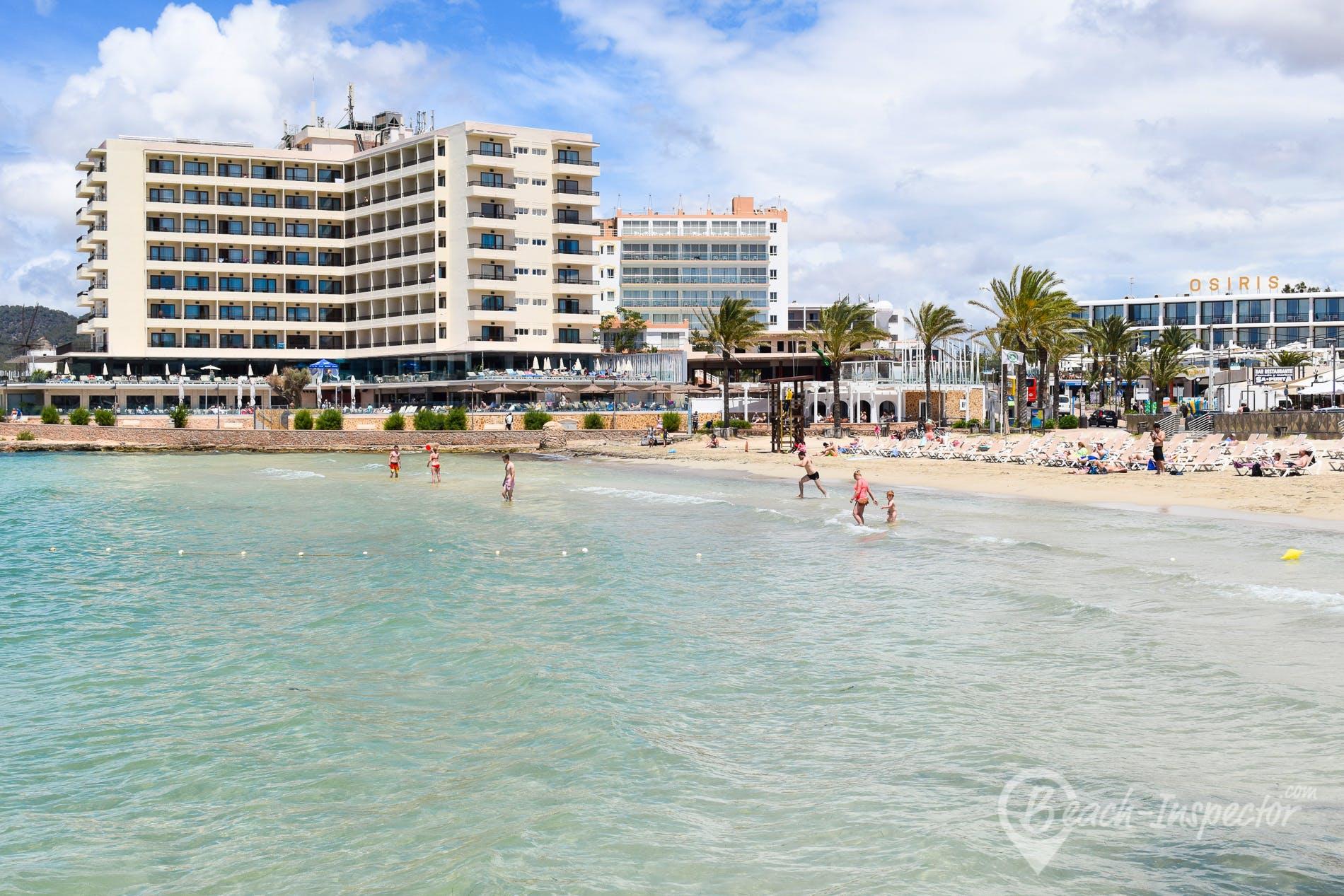 Beach Playa Es Puet, Ibiza, Spain