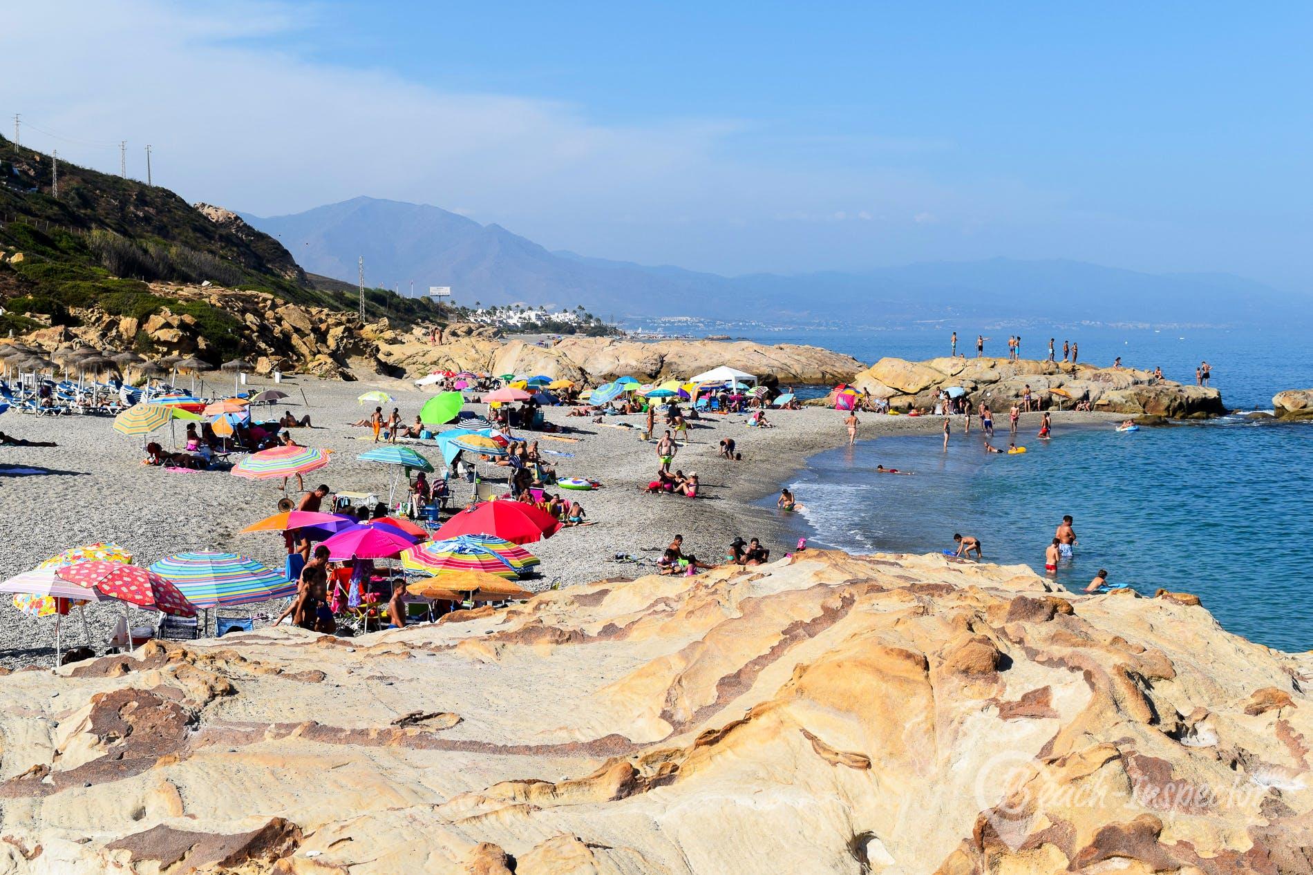 Beach Punta de la Chullera, Costa del Sol, Spain