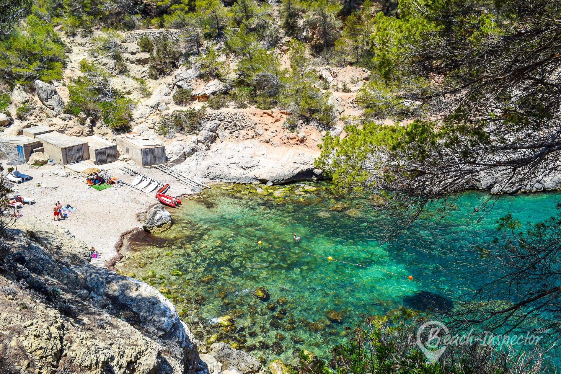 Beach Cala d'es Motons, Ibiza, Spain