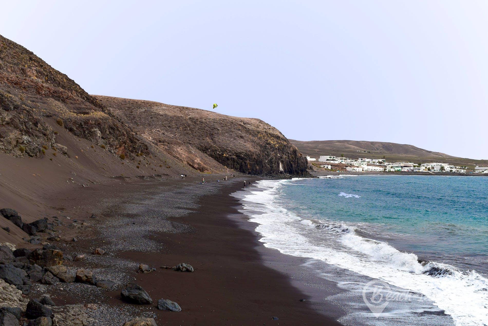 Strand Playa Quemada, Lanzarote, Spanien