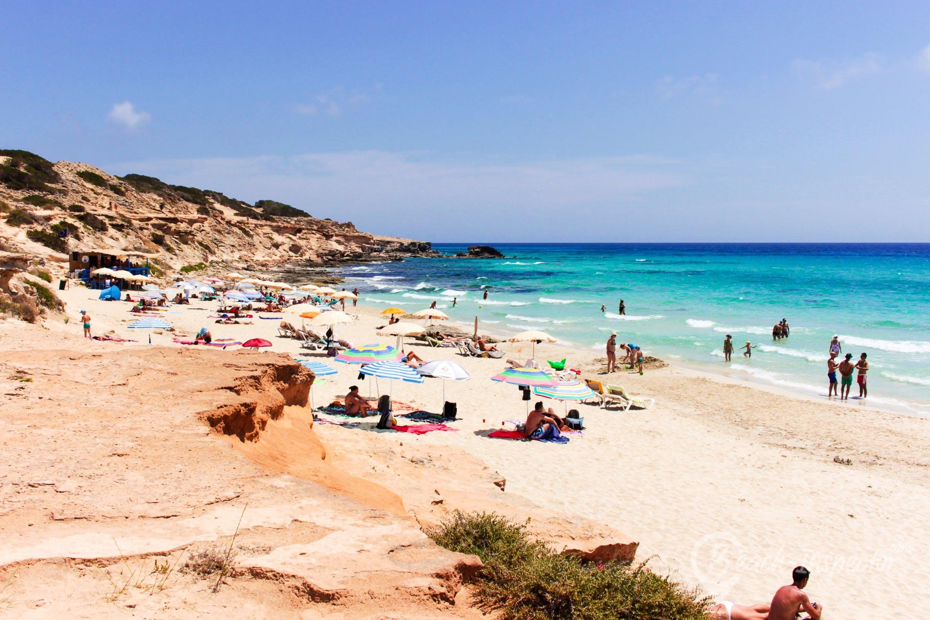 Beach Es Cupina, Formentera, Spain
