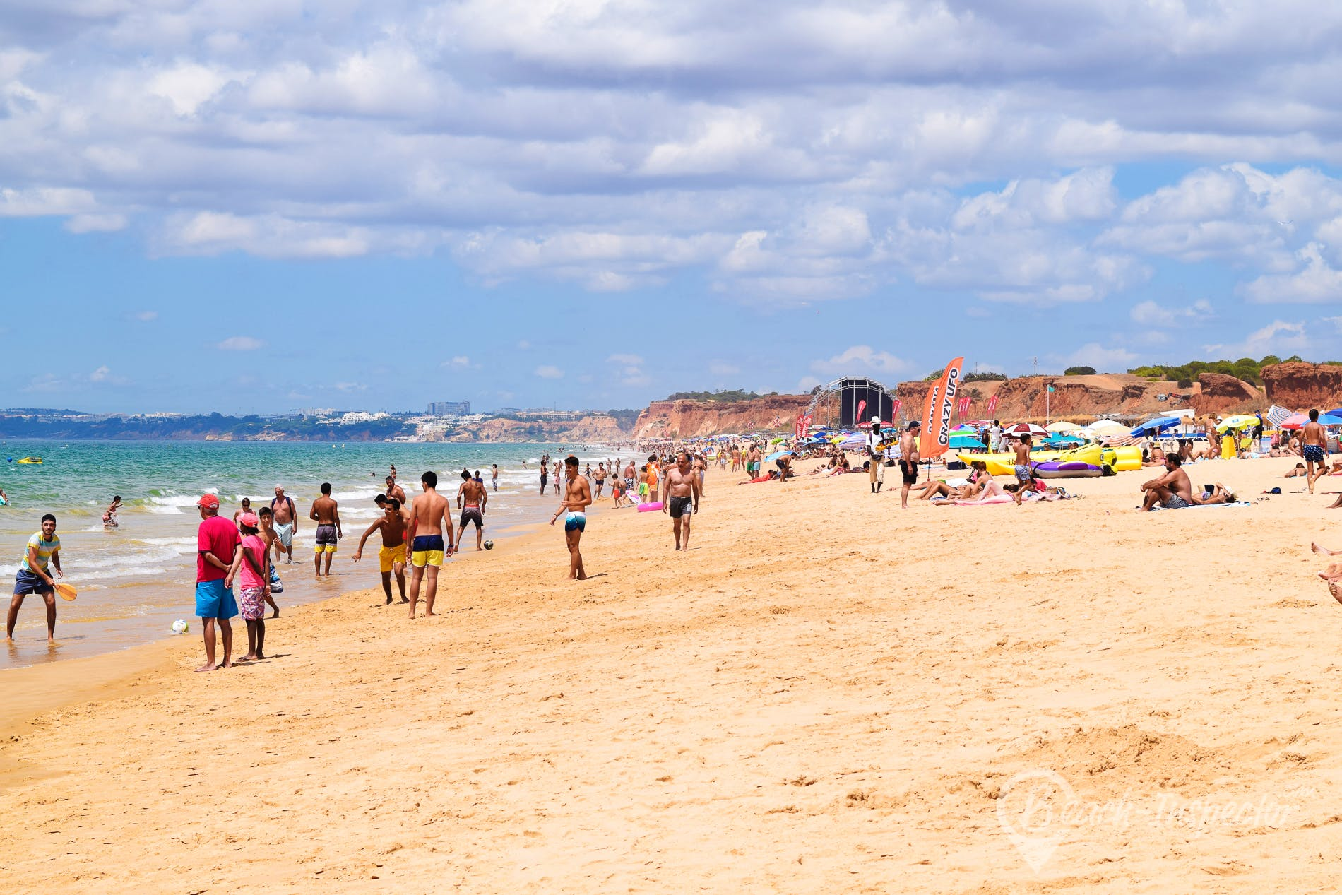 Beach Praia Rocha Baixinha, Algarve, Portugal