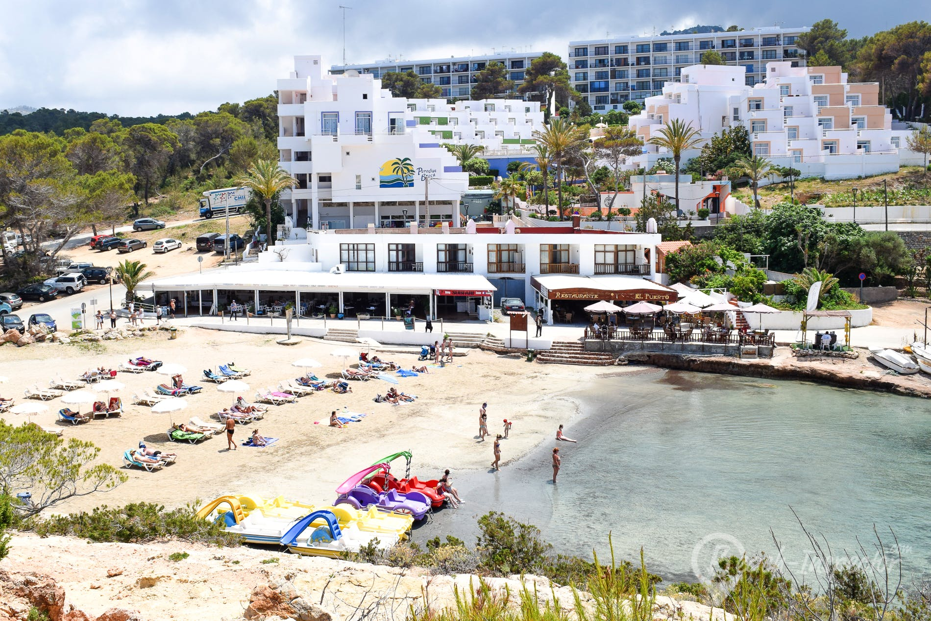 Strand Puerto Portinatx, Ibiza, Spanien